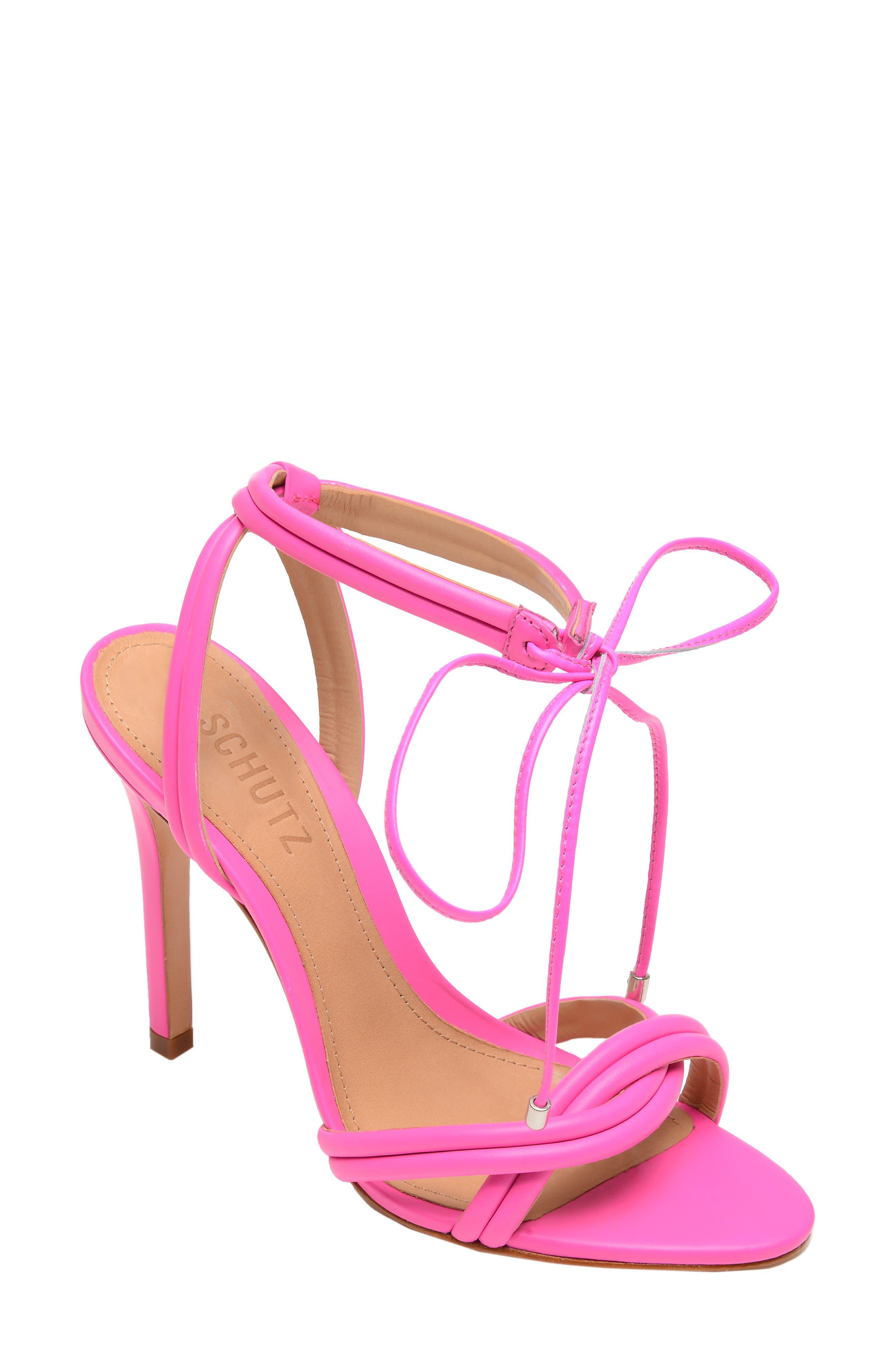 Yvi Strappy Sandal, Main, color, NEON PINK