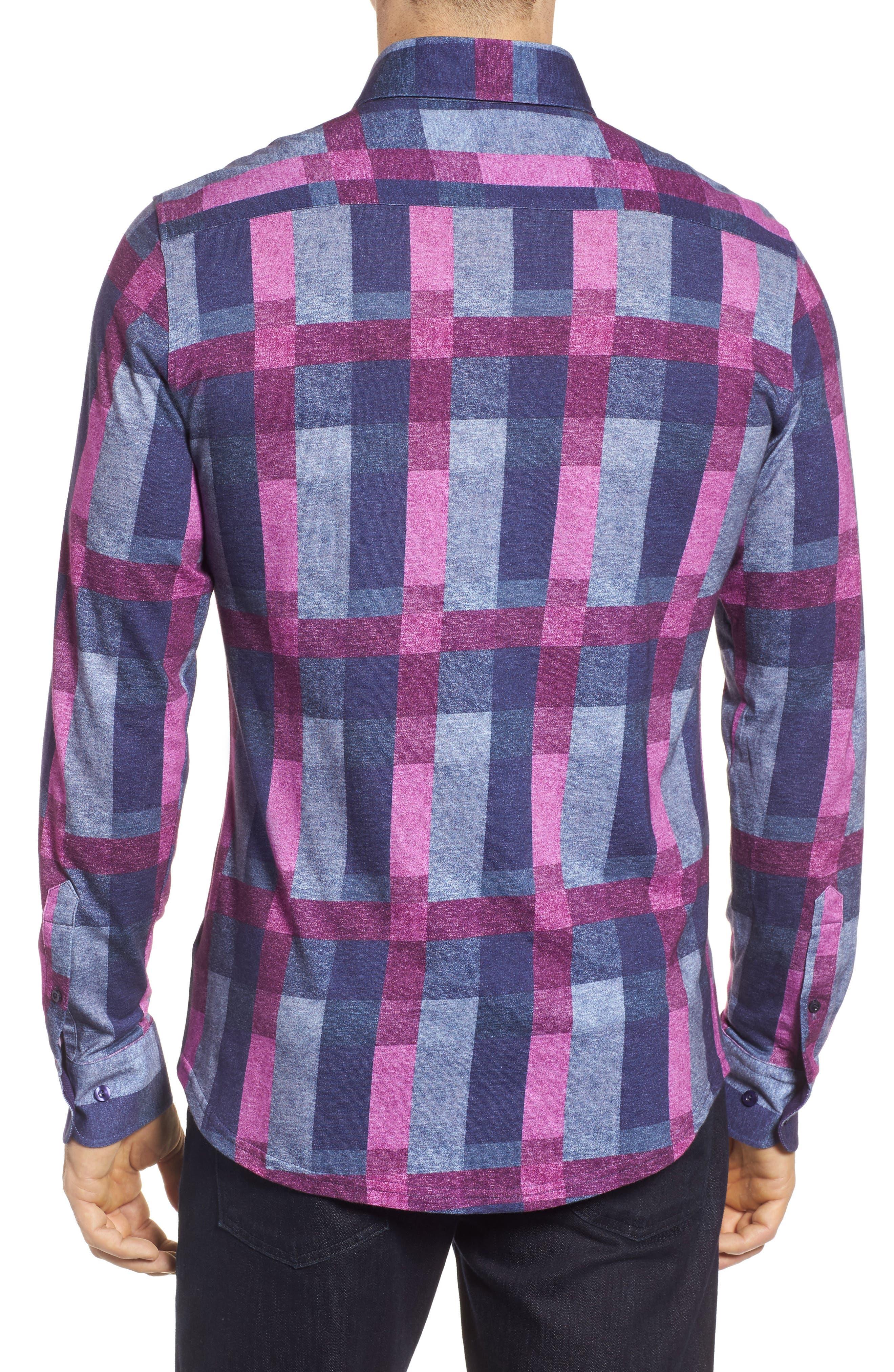 Multicheck Print Knit Sport Shirt,                             Alternate thumbnail 2, color,                             410