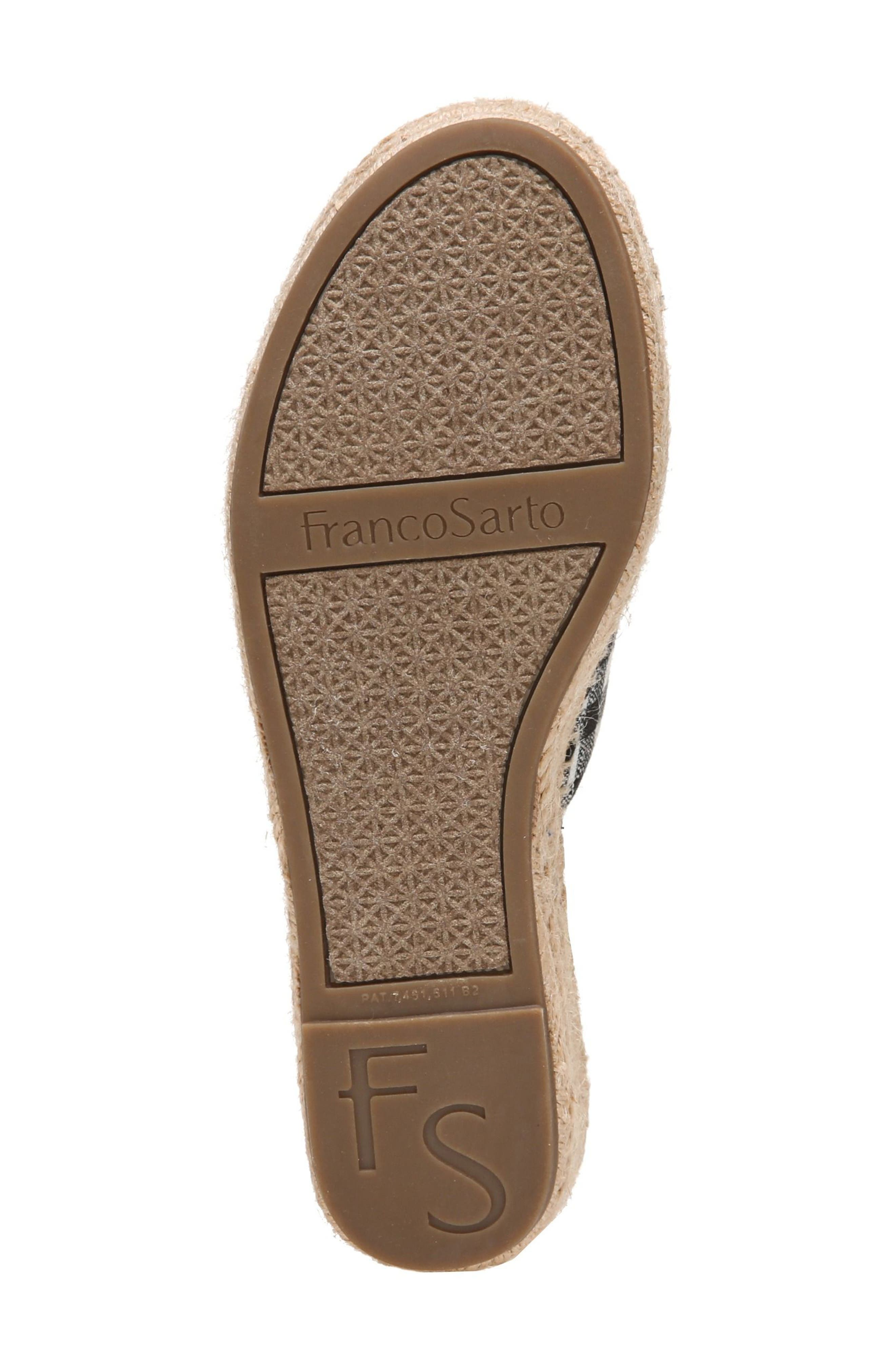 SARTO by Franco Sarto Pinot Platform Wedge Slide Sandal,                             Alternate thumbnail 6, color,                             BLACK/ WHITE