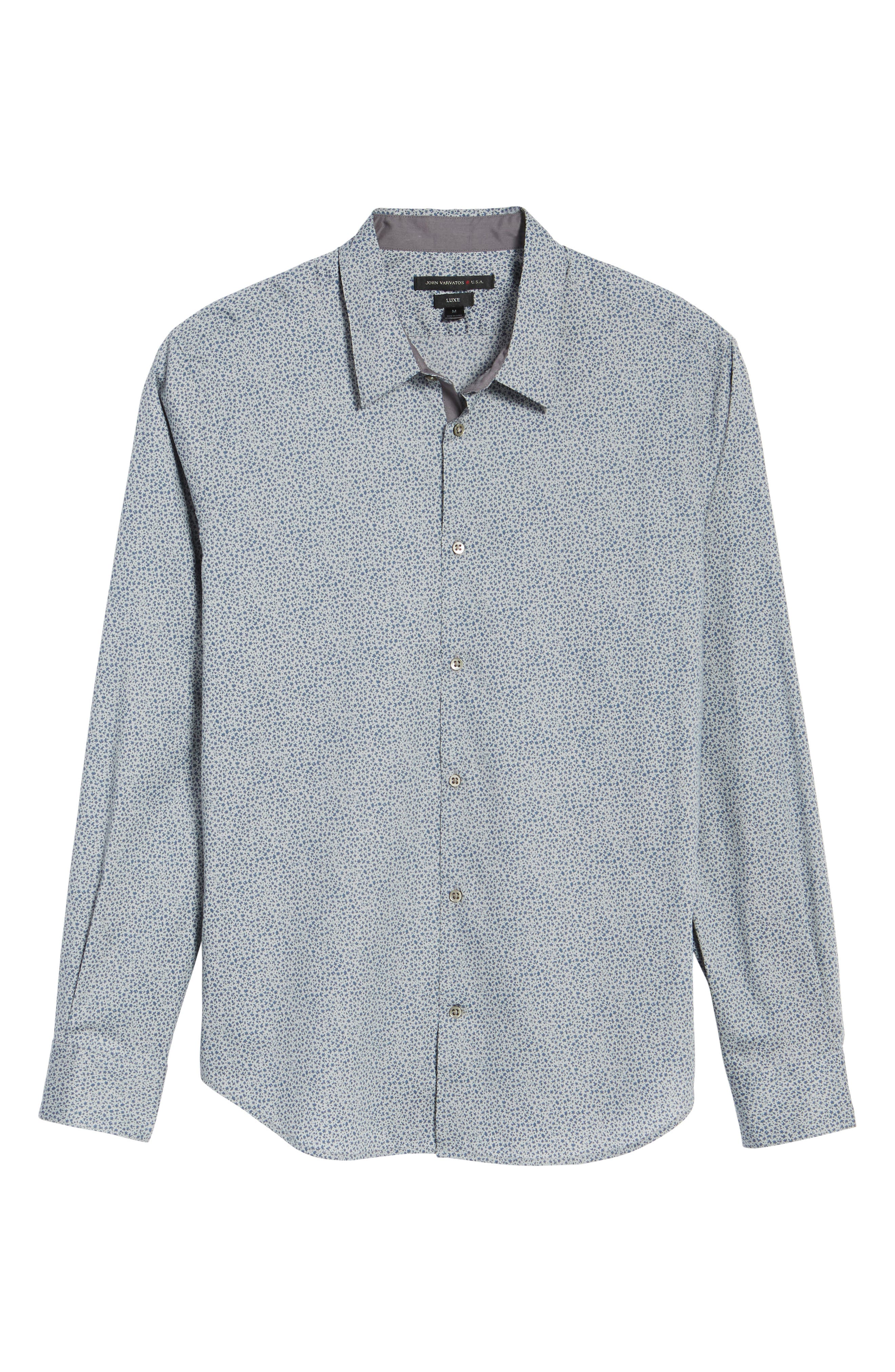 Slim Fit Print Sport Shirt,                             Alternate thumbnail 6, color,                             020