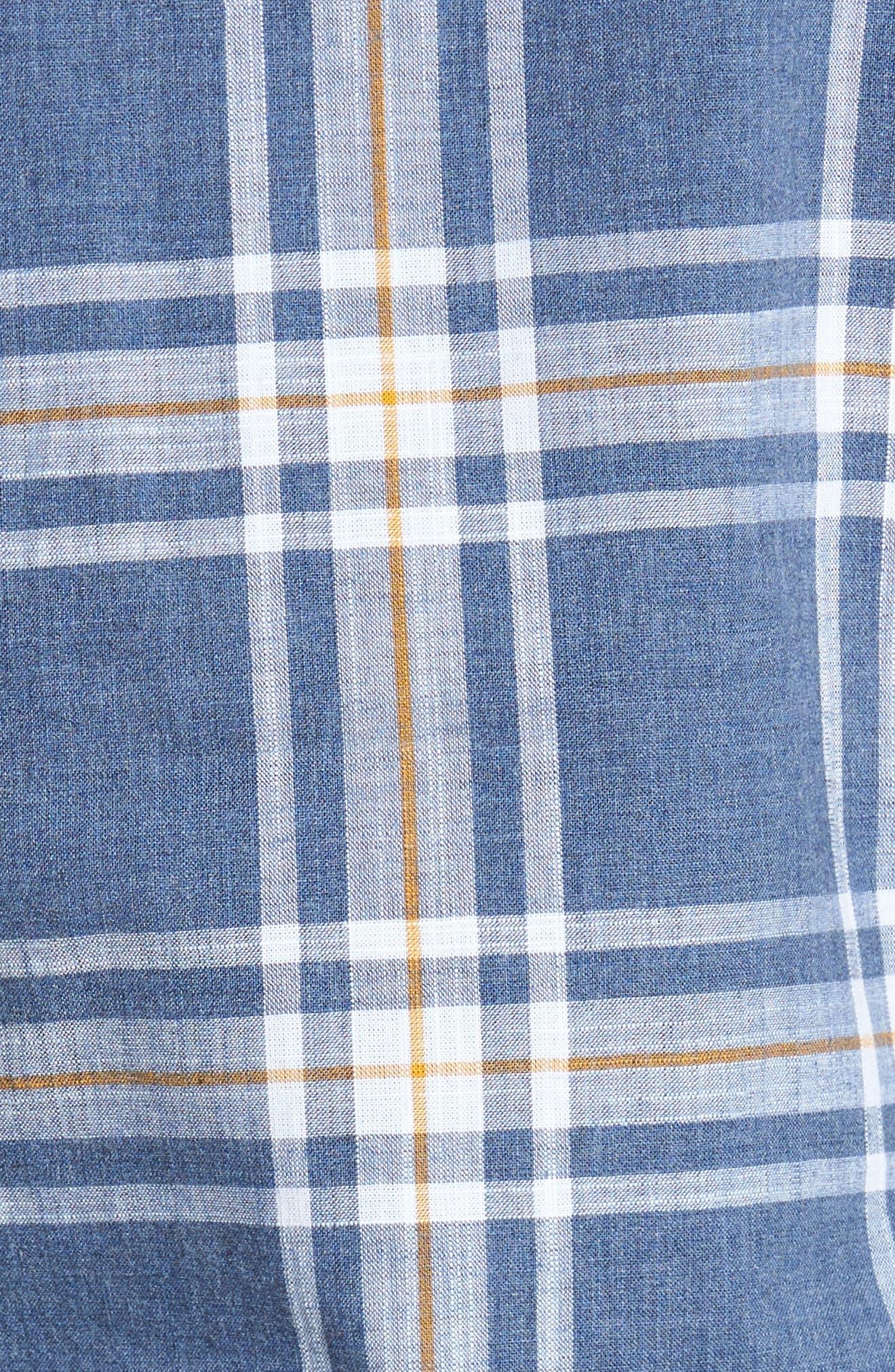 Elver Tailored Fit Plaid Sport Shirt,                             Alternate thumbnail 5, color,                             410