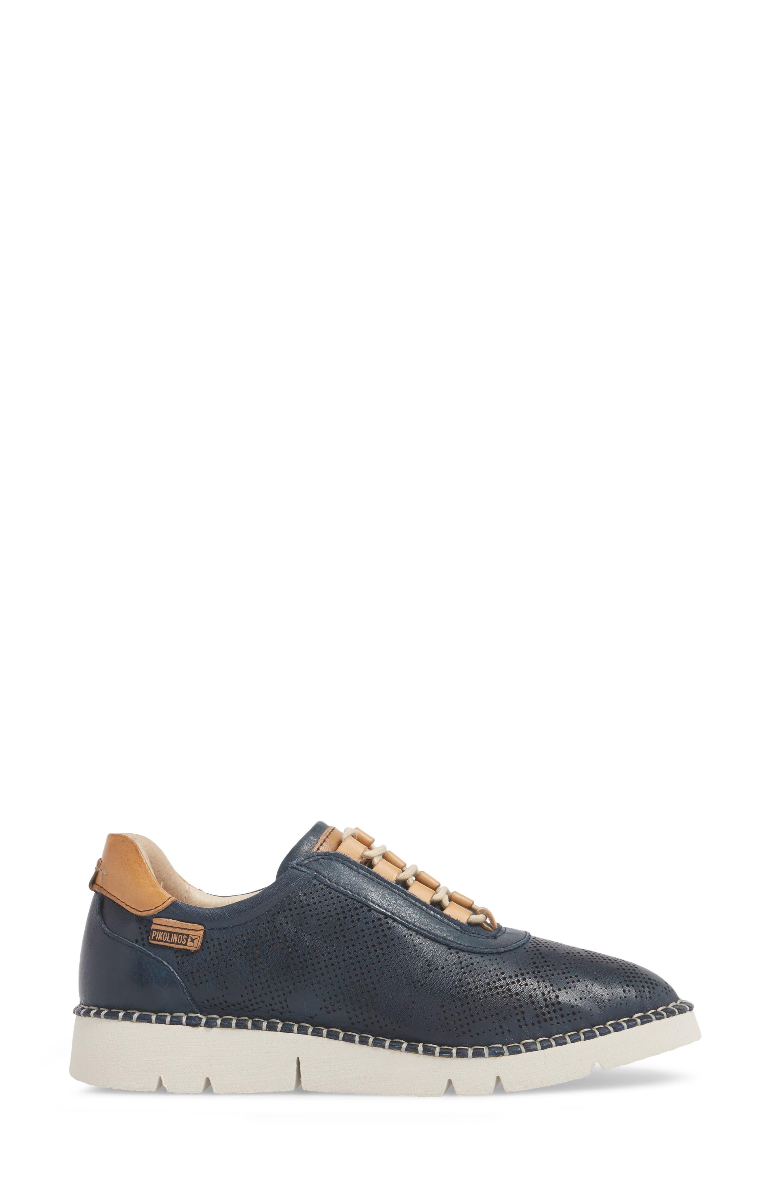 Vera Sneaker,                             Alternate thumbnail 3, color,                             OCEAN LEATHER