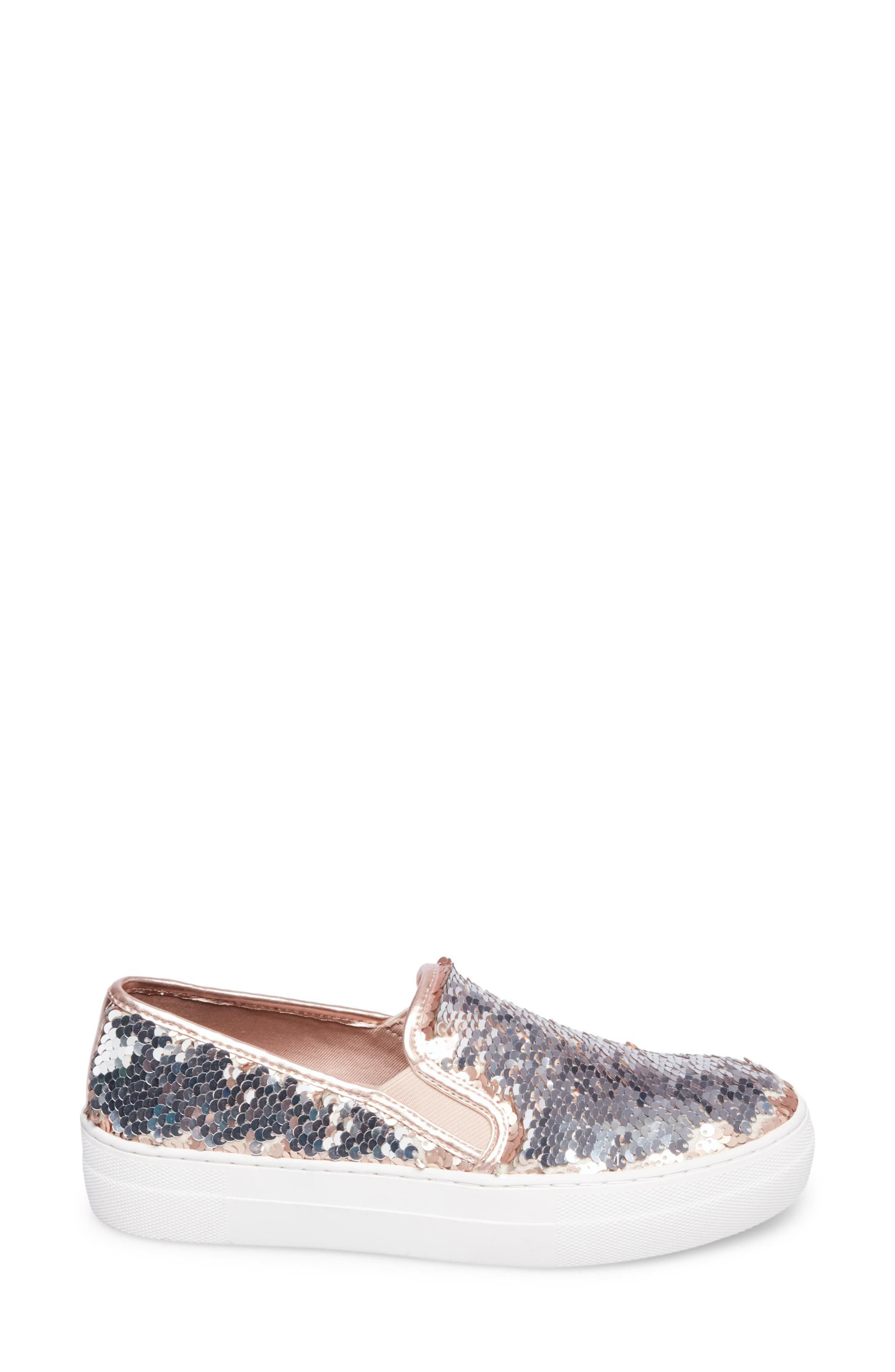Gills Sequined Slip-On Platform Sneaker,                             Alternate thumbnail 6, color,