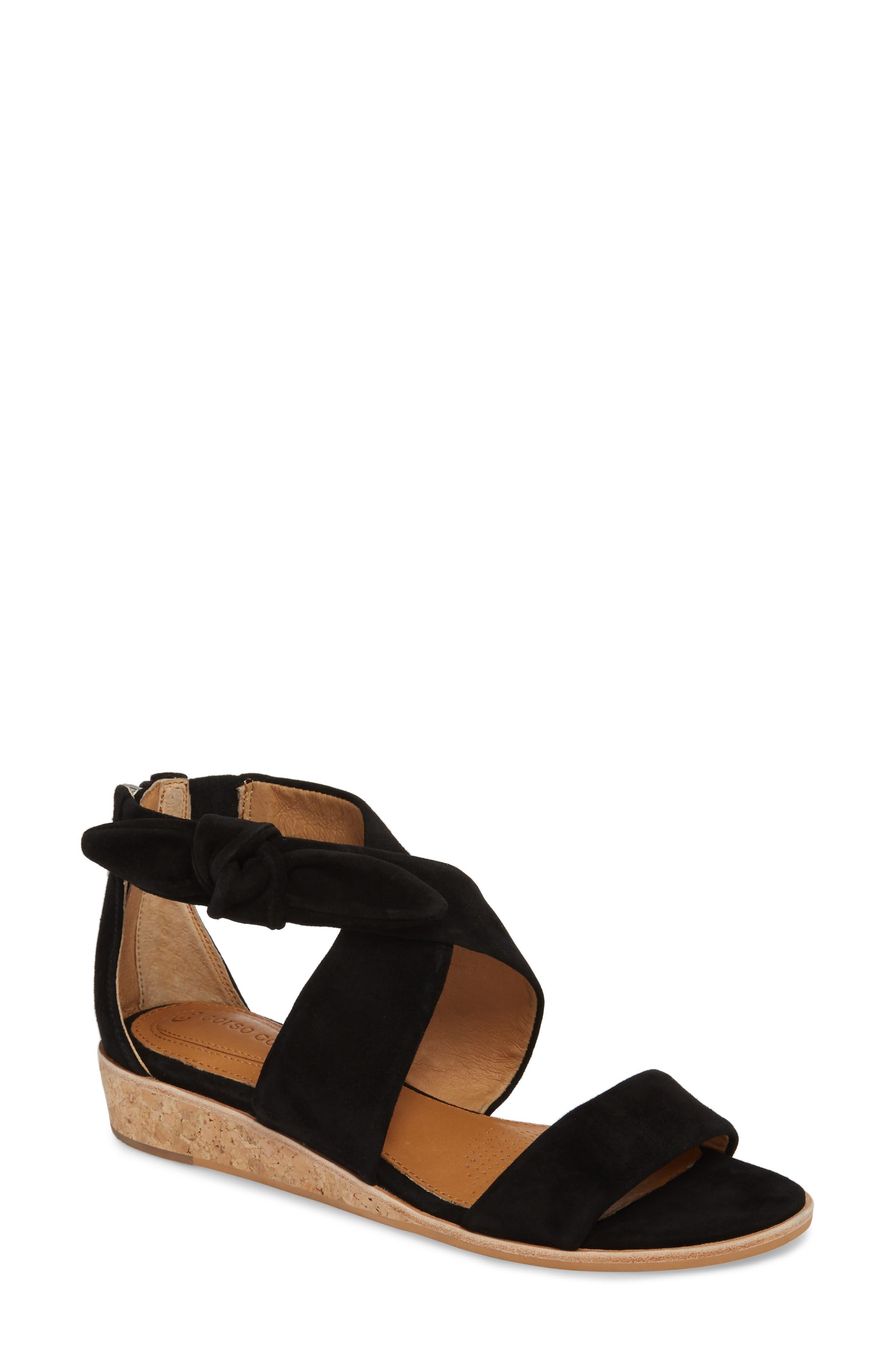 Rasque Sandal,                         Main,                         color, BLACK LEATHER
