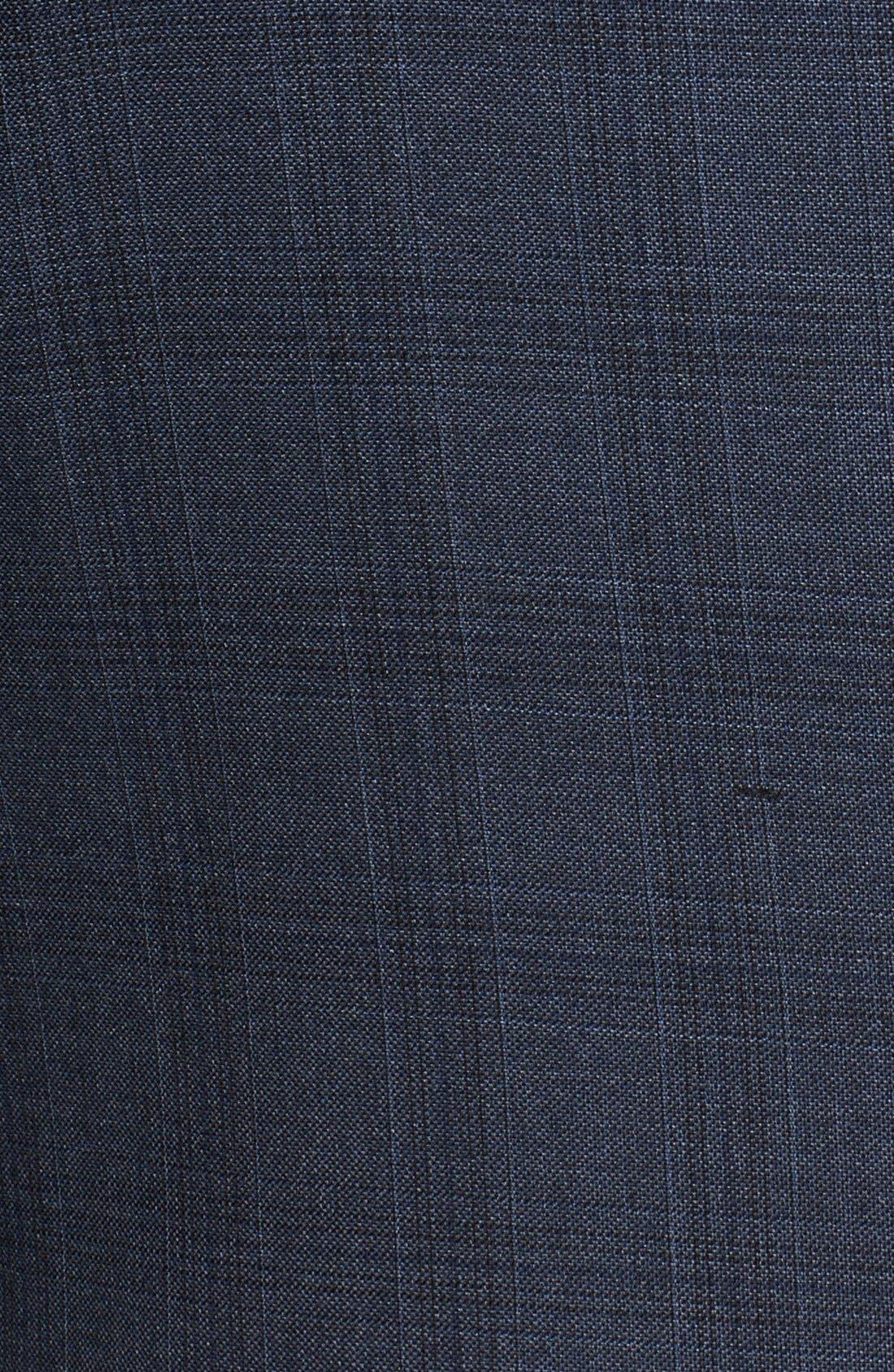 'Byard' Trim Fit Plaid Suit,                             Alternate thumbnail 5, color,                             414