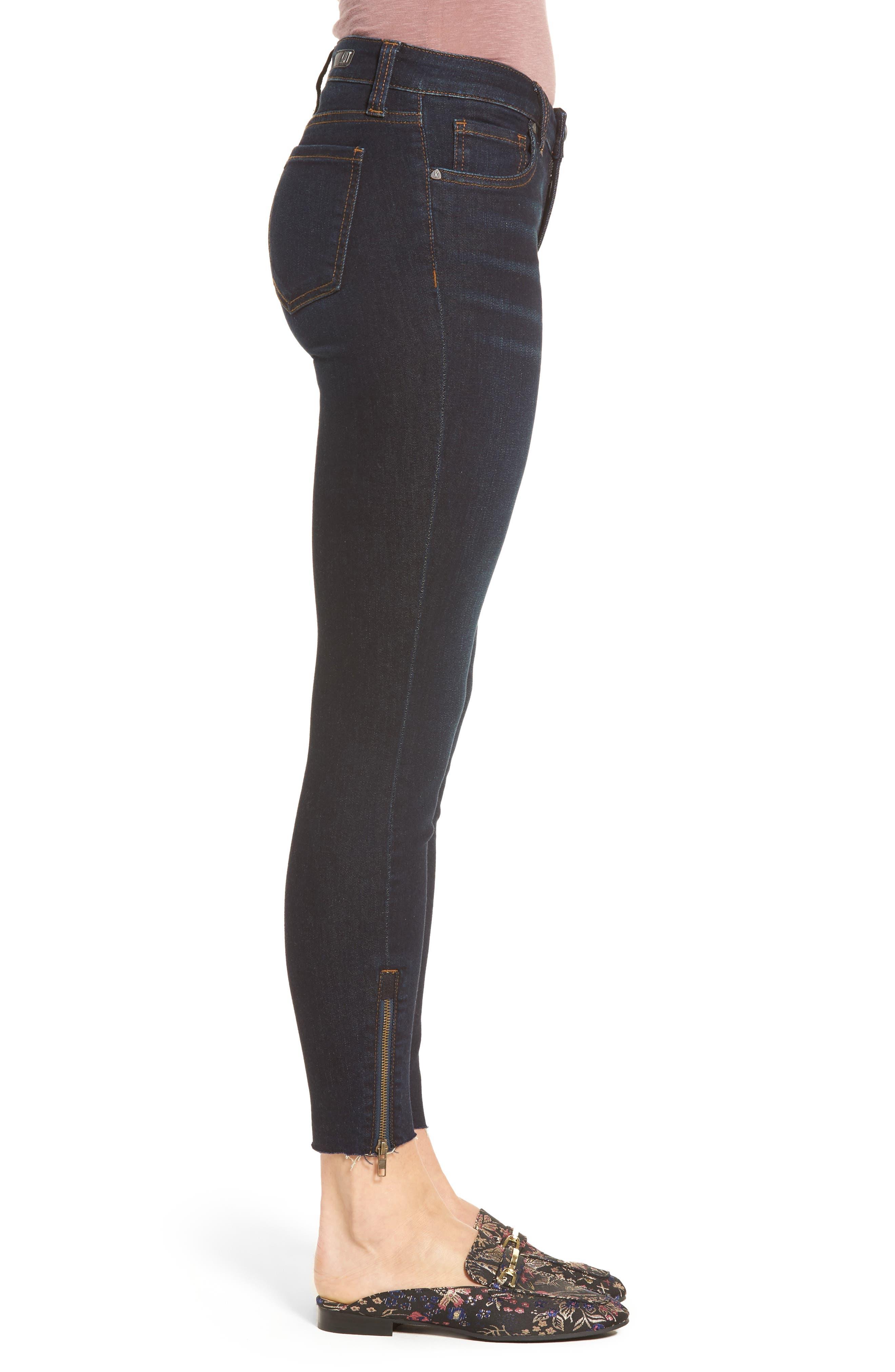Connie Skinny Ankle Zip Hem Jeans,                             Alternate thumbnail 3, color,                             490
