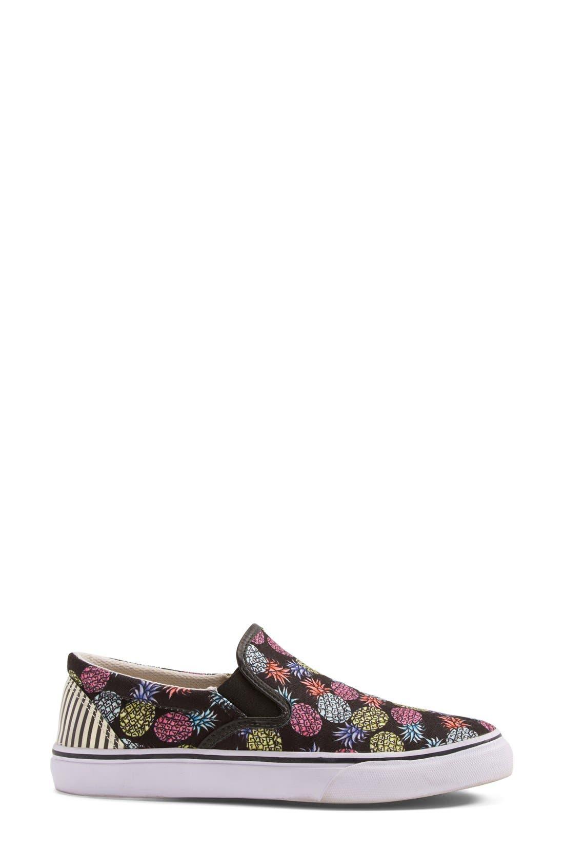 'Adele - Pineapple' Satin Slip-On Sneaker,                             Alternate thumbnail 2, color,                             001