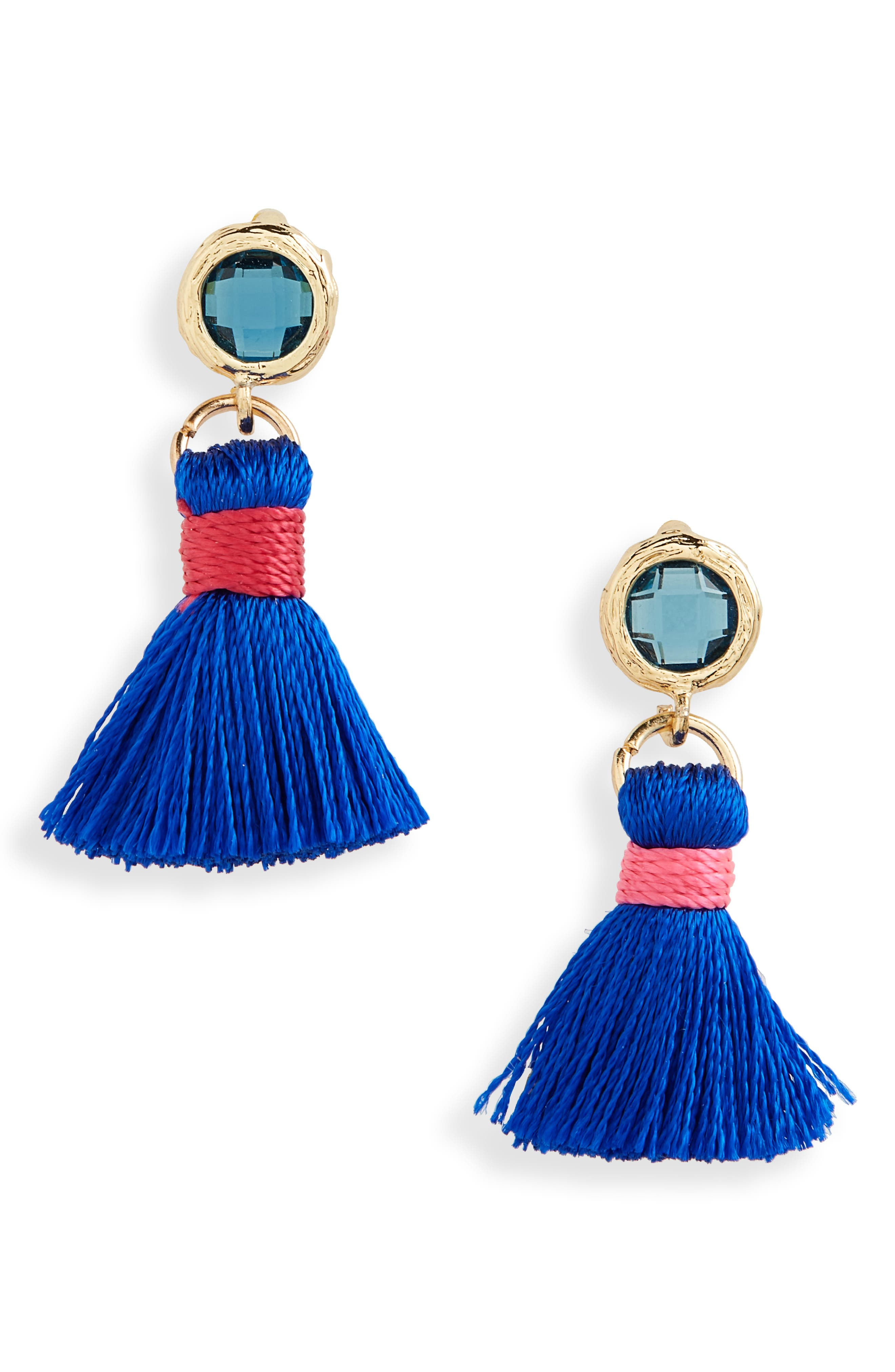 Mini Tassel Earrings,                         Main,                         color,