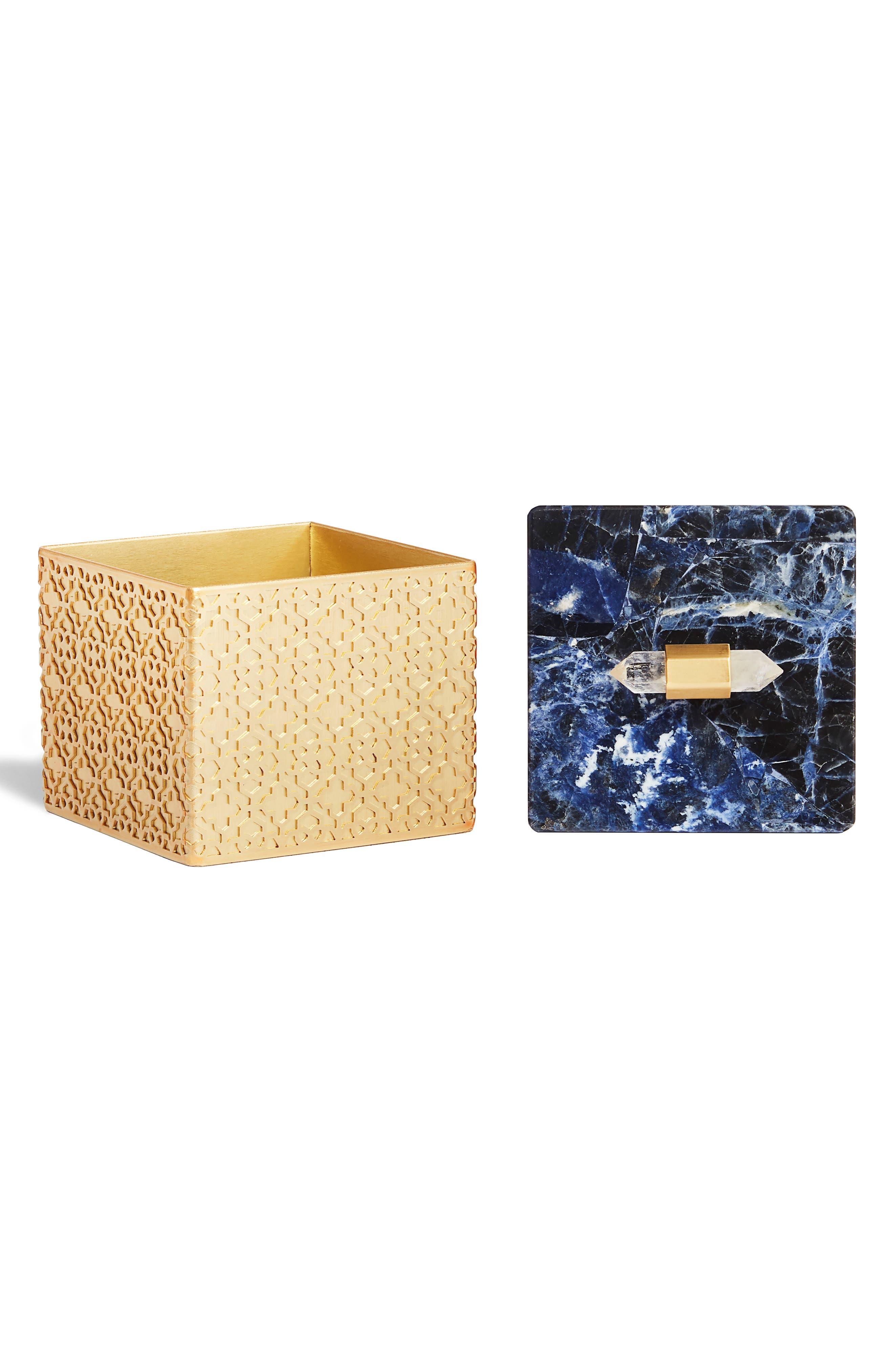 Square Filigree Stone Box,                             Main thumbnail 1, color,                             426