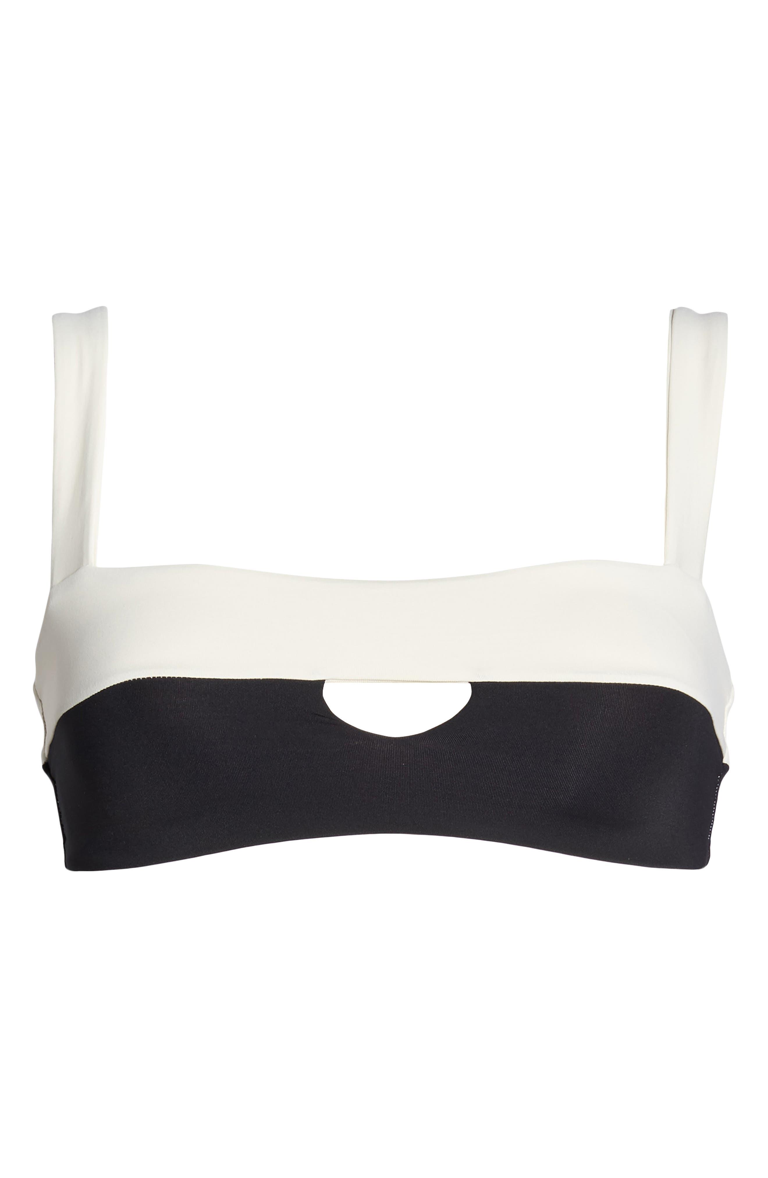 Turlington Reversible Bikini Top,                             Alternate thumbnail 6, color,                             CREAM/ BLACK/ CAMEL