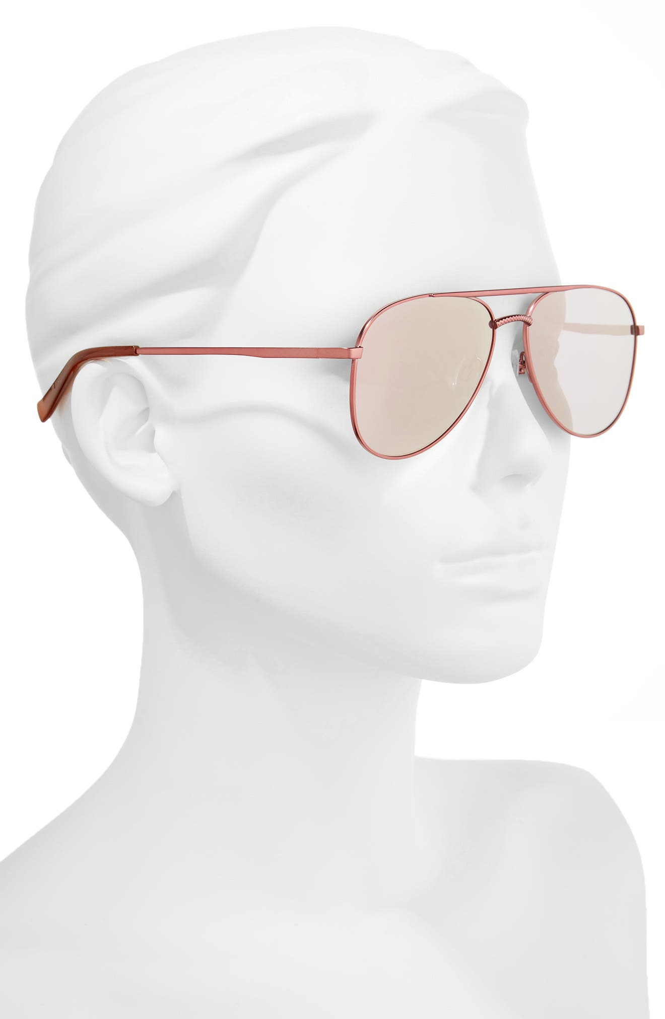 Kingdom 57mm Polarized Aviator Sunglasses,                             Alternate thumbnail 2, color,                             650