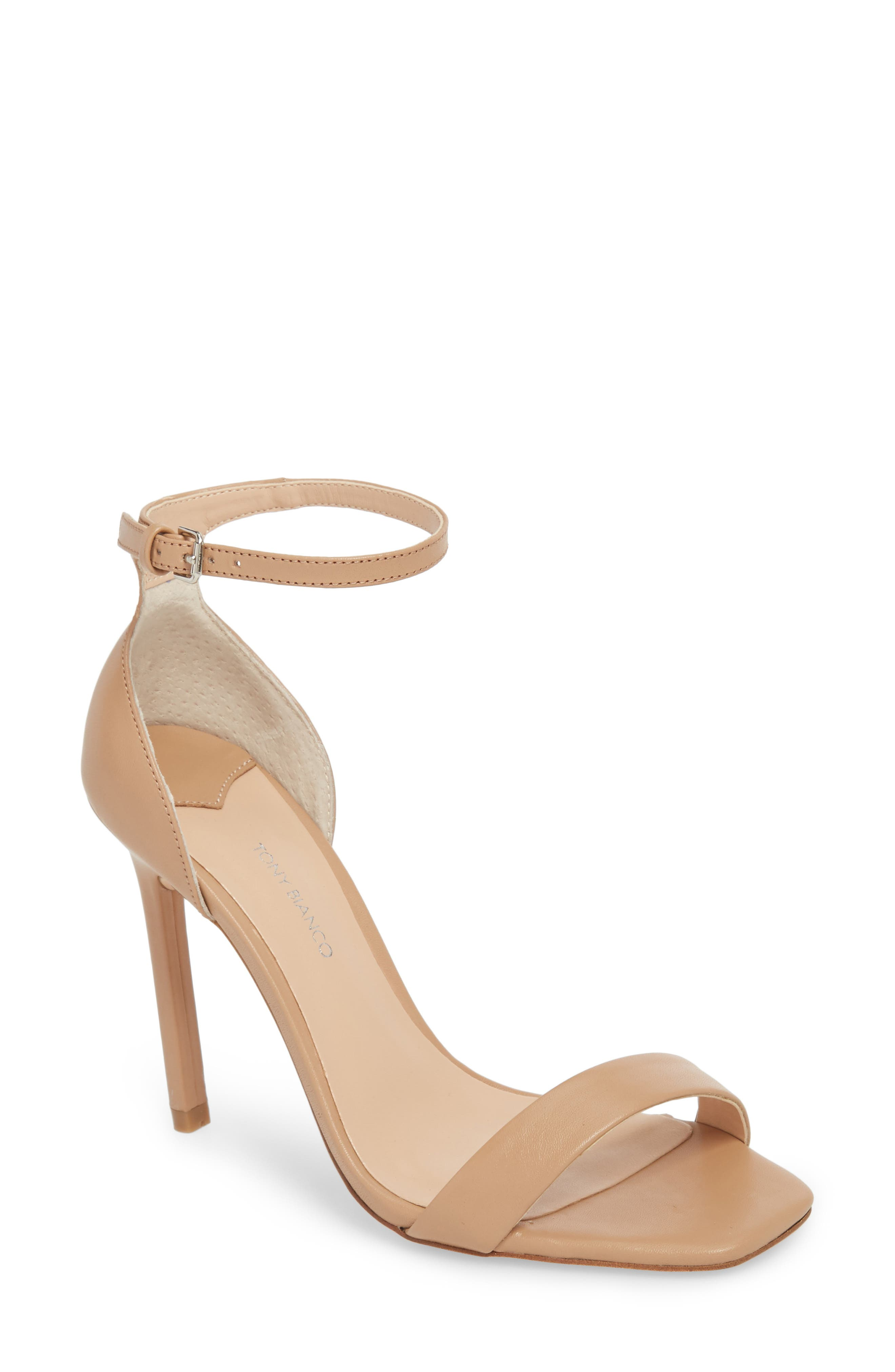 Tony Bianco Sacha Ankle Strap Sandal, Beige