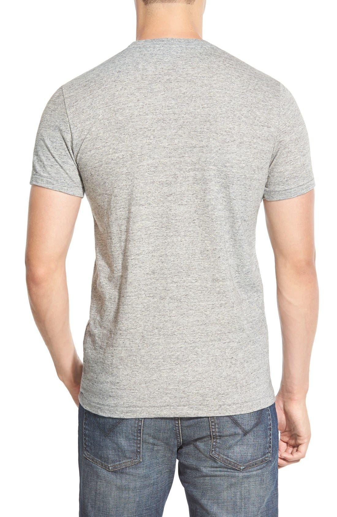 Double Face Jersey Pocket Crewneck T-Shirt,                             Alternate thumbnail 3, color,                             ANTI-GREY HEATHER