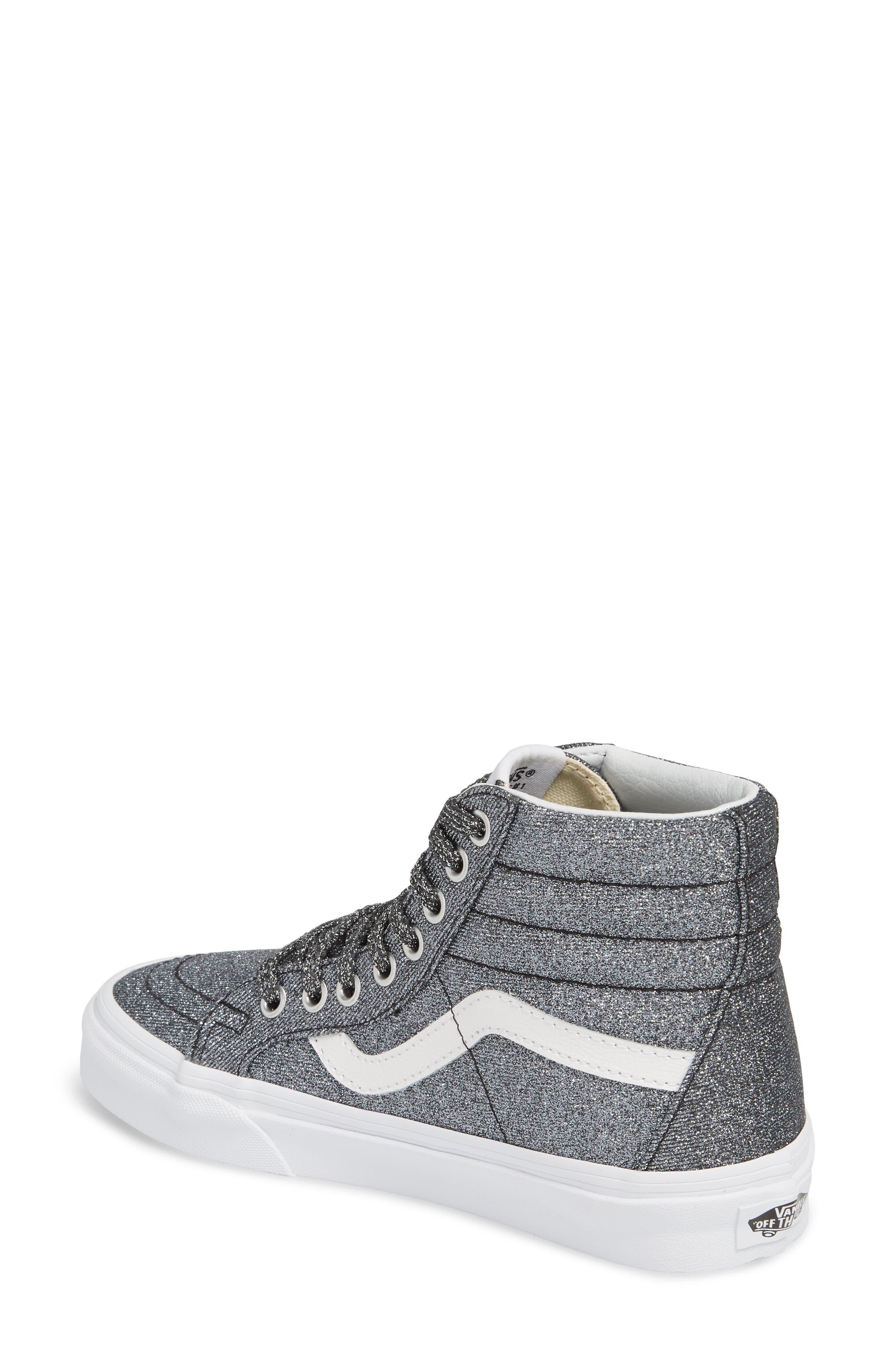 UA Sk8-Hi Reissue Glitter Sneaker,                             Alternate thumbnail 2, color,                             001
