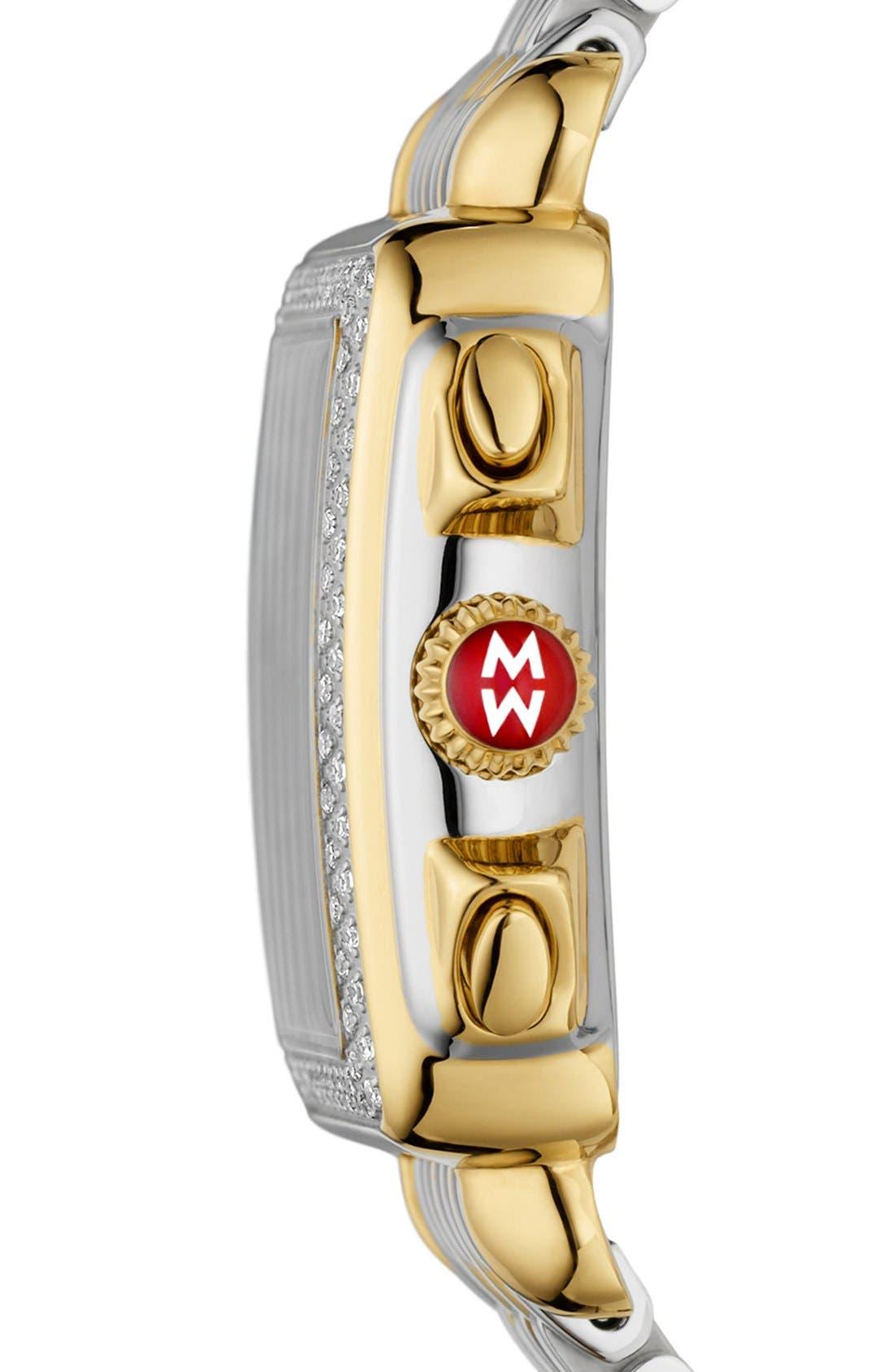 'Deco Diamond' Diamond Dial Two-Tone Watch Case, 33mm x 35mm,                             Alternate thumbnail 3, color,                             710