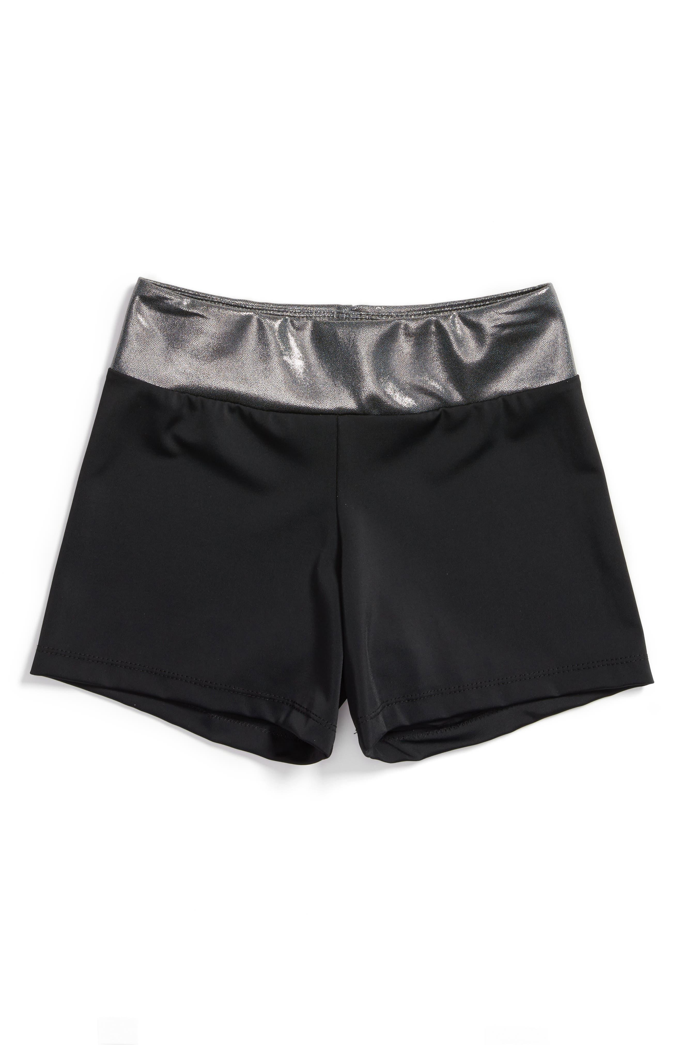 Girl Power Stretch Shorts,                             Main thumbnail 1, color,                             001