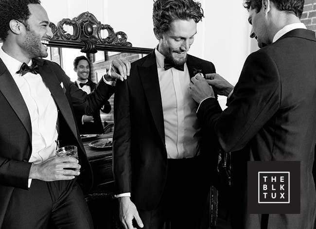 The black tux, renting a tuxedo has never been easier.