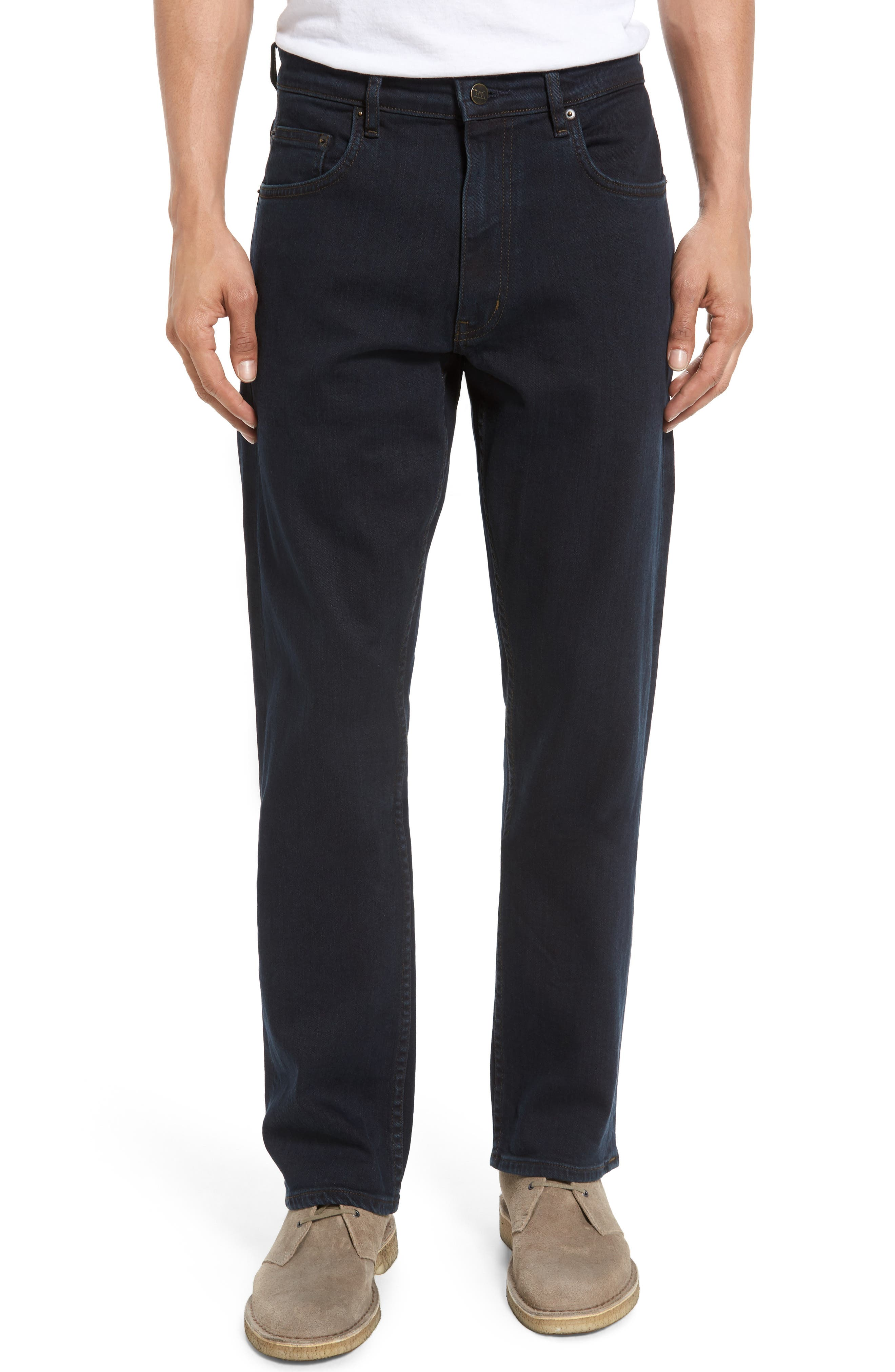 Cobham Relaxed Fit Jeans,                             Main thumbnail 1, color,                             BLUE BLACK