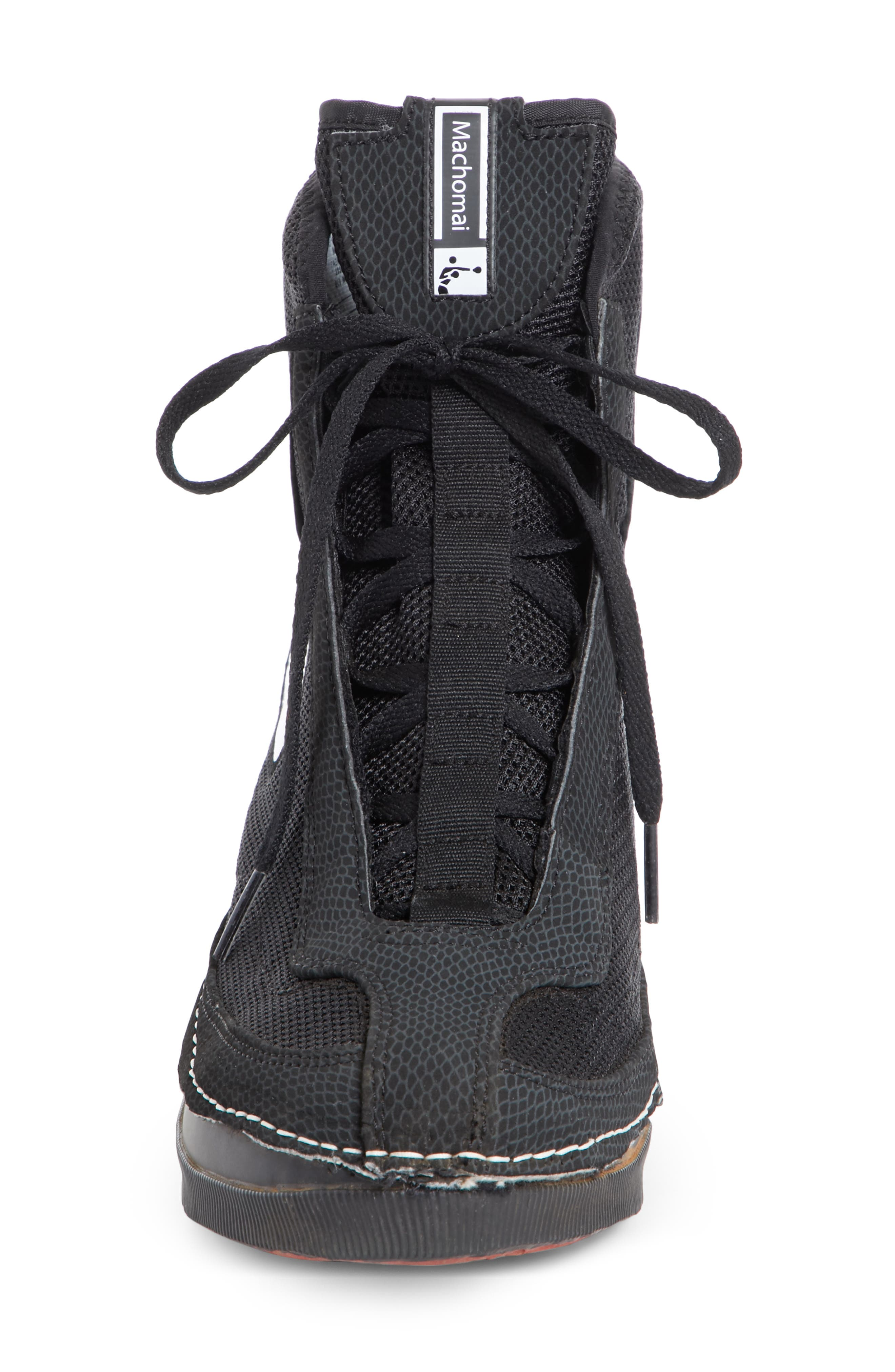 x Nike Heeled Bootie,                             Alternate thumbnail 4, color,                             BLACK