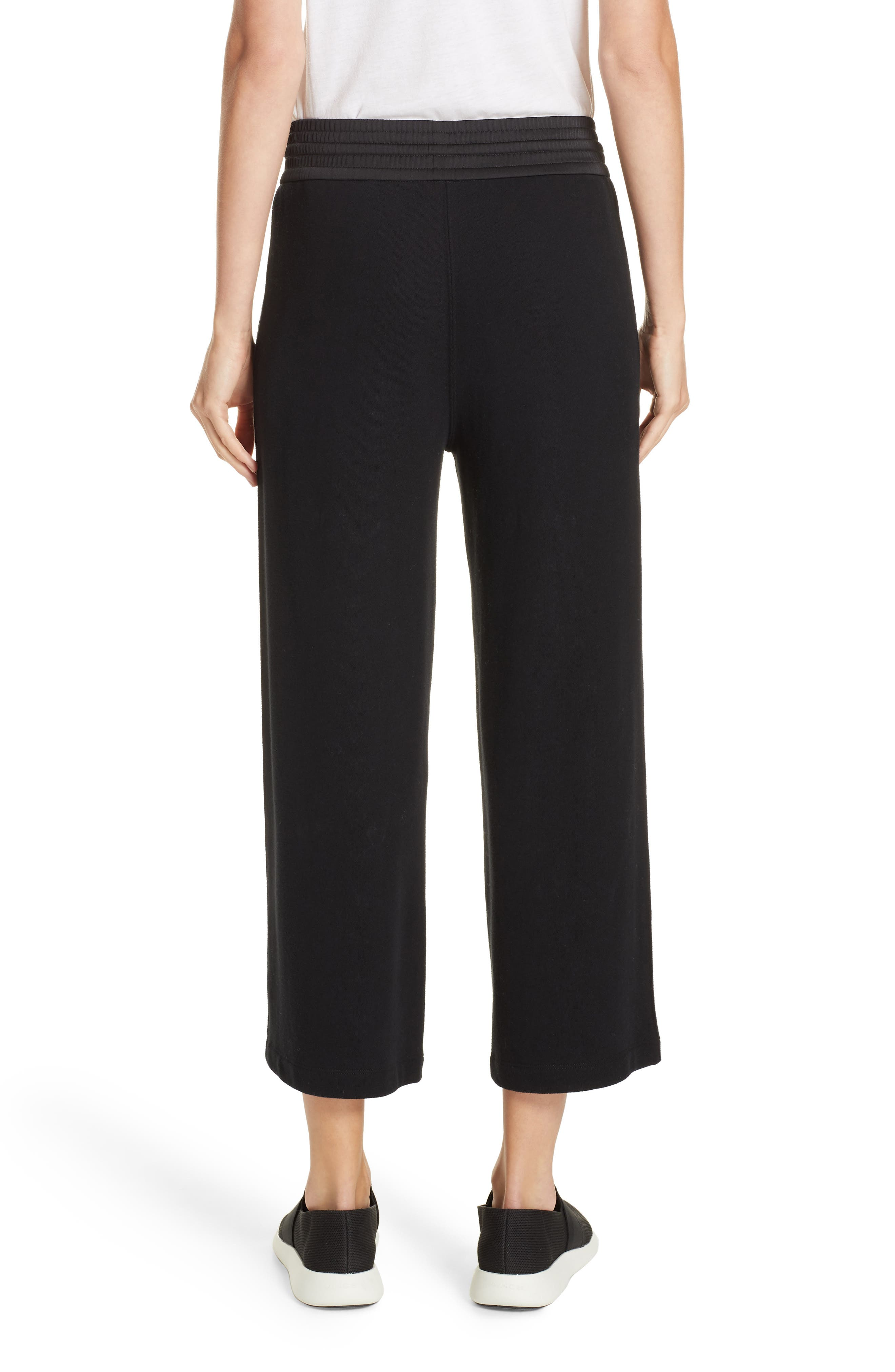 Cotton Culottes,                             Alternate thumbnail 2, color,                             BLACK