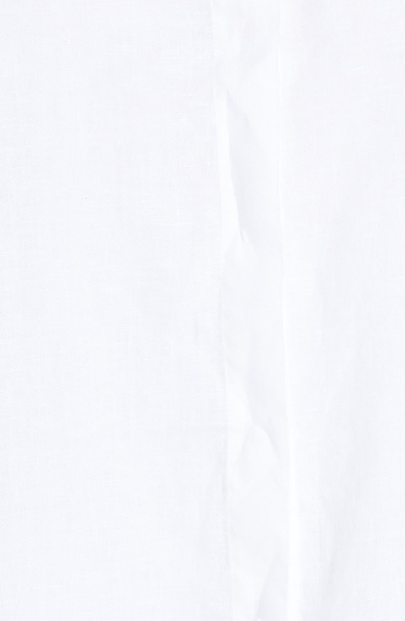 Skye Linen Tunic Shirt,                             Alternate thumbnail 5, color,                             100