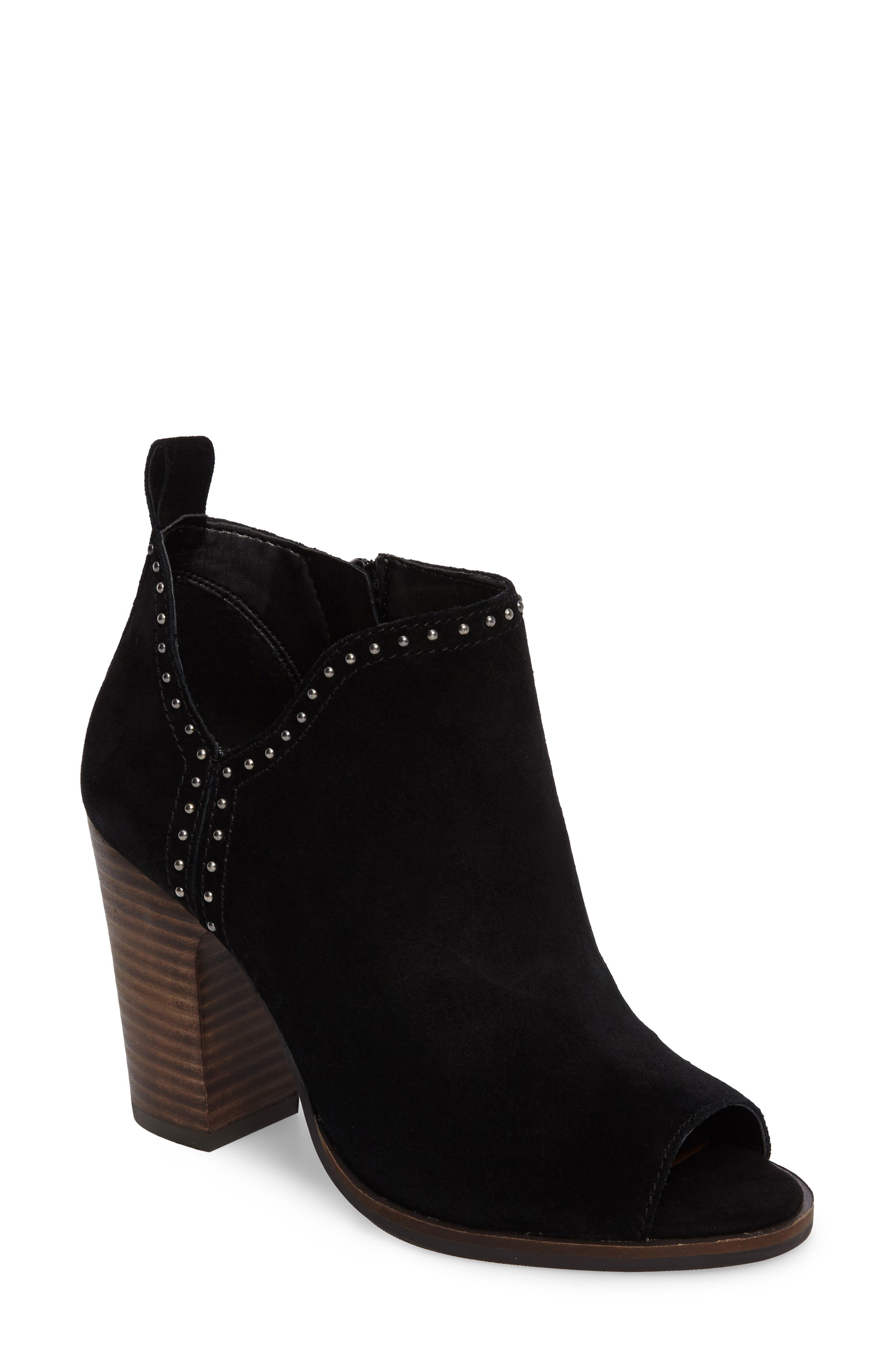 Lotisha Studded Open Toe Bootie,                             Main thumbnail 1, color,