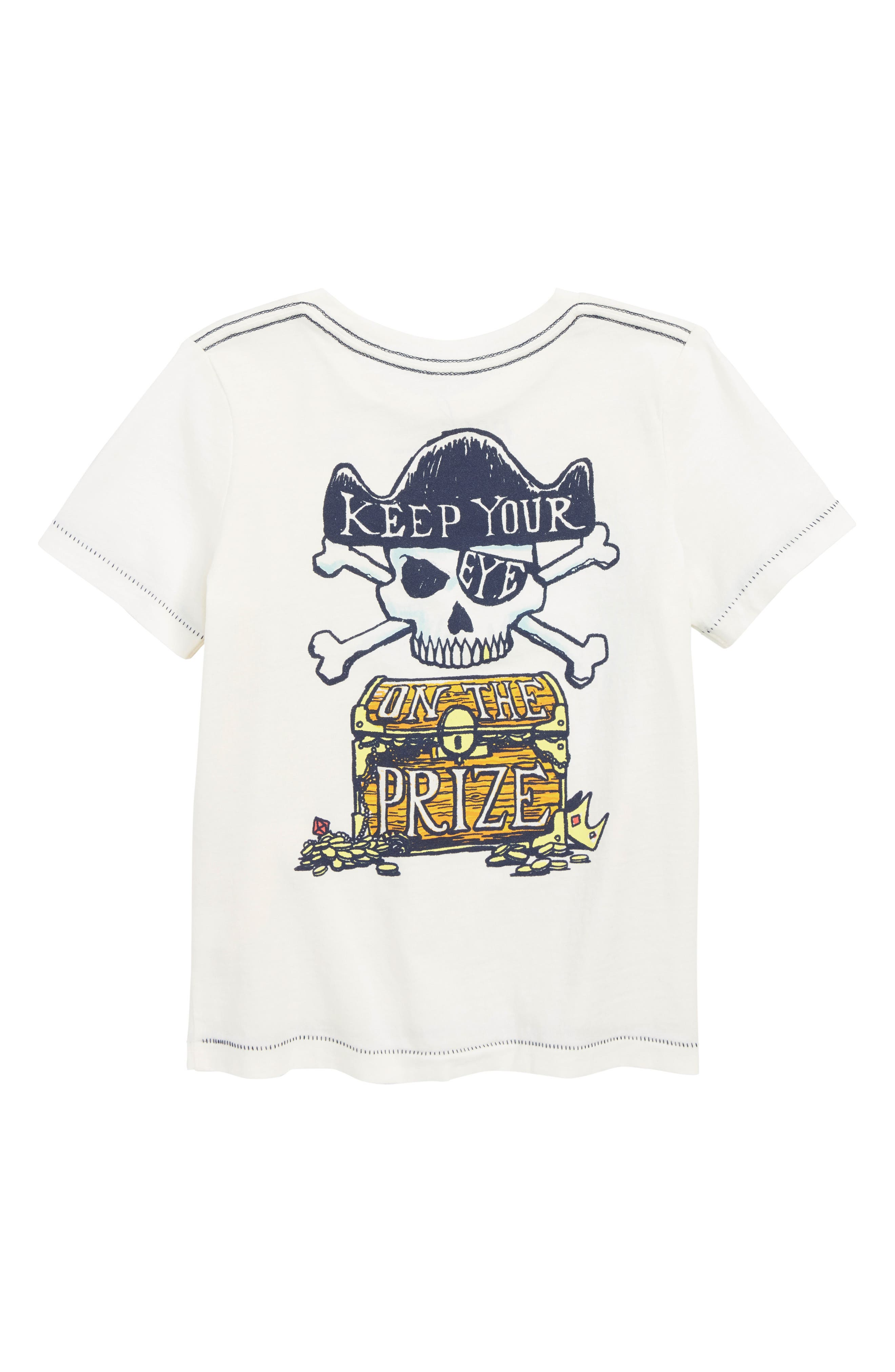 PEEK AREN'T YOU CURIOUS,                             Pirate Map T-Shirt,                             Alternate thumbnail 2, color,                             IVORY