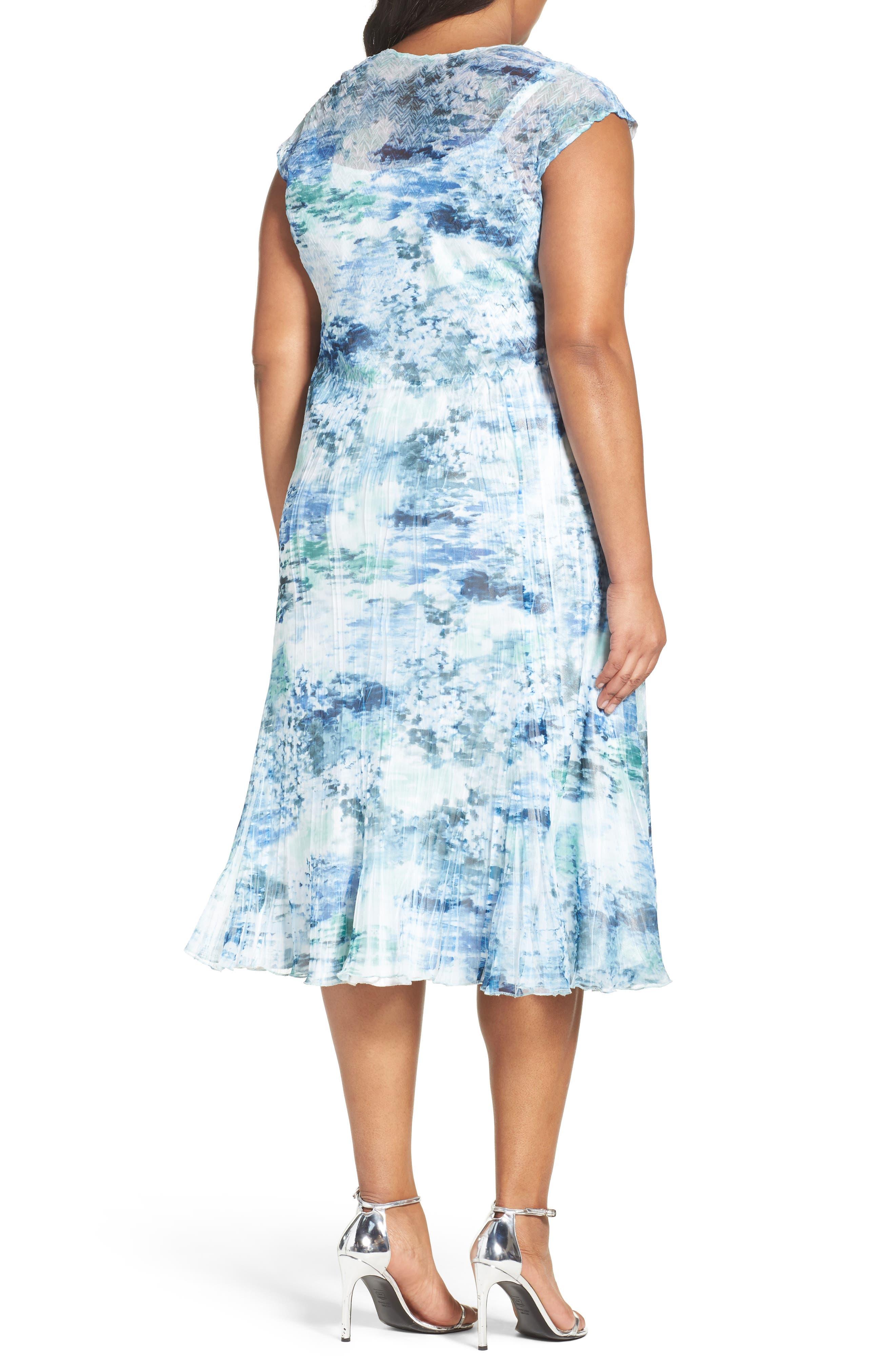 Print Chiffon A-Line Dress,                             Alternate thumbnail 2, color,                             469