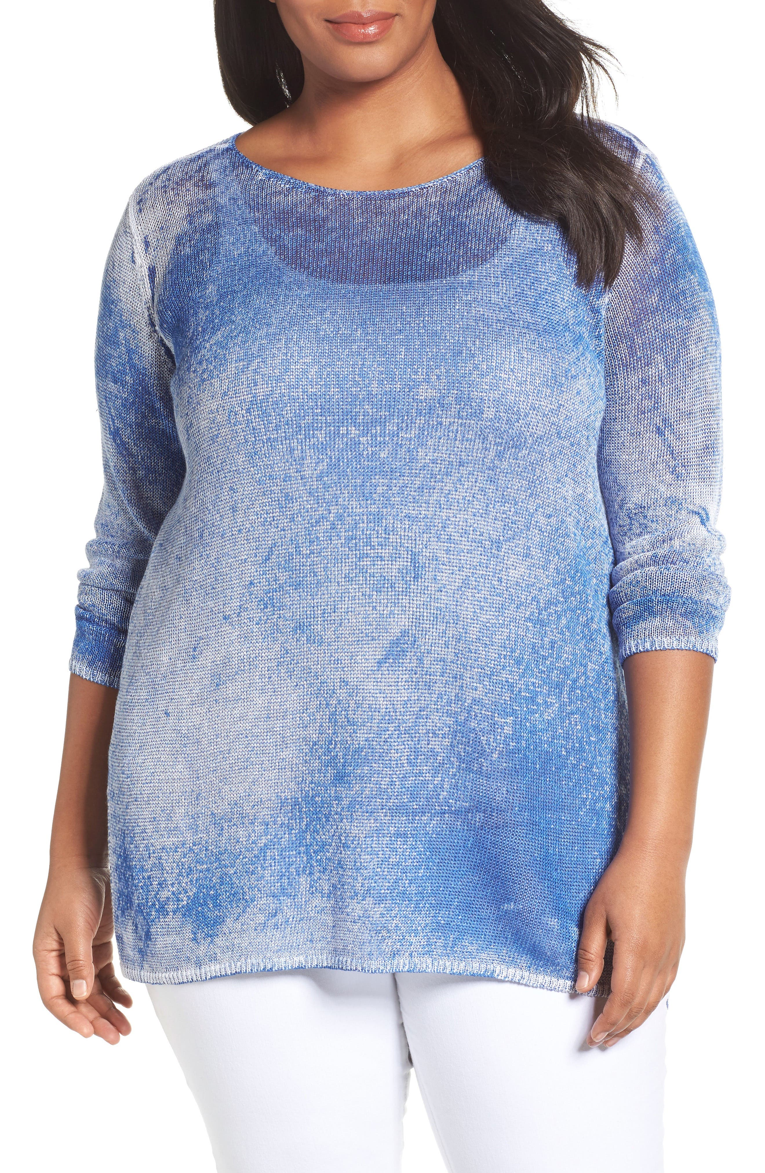Poolside Linen Blend Pullover,                         Main,                         color, POOLSIDE