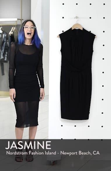 Matte Jersey Sheath Dress, sales video thumbnail