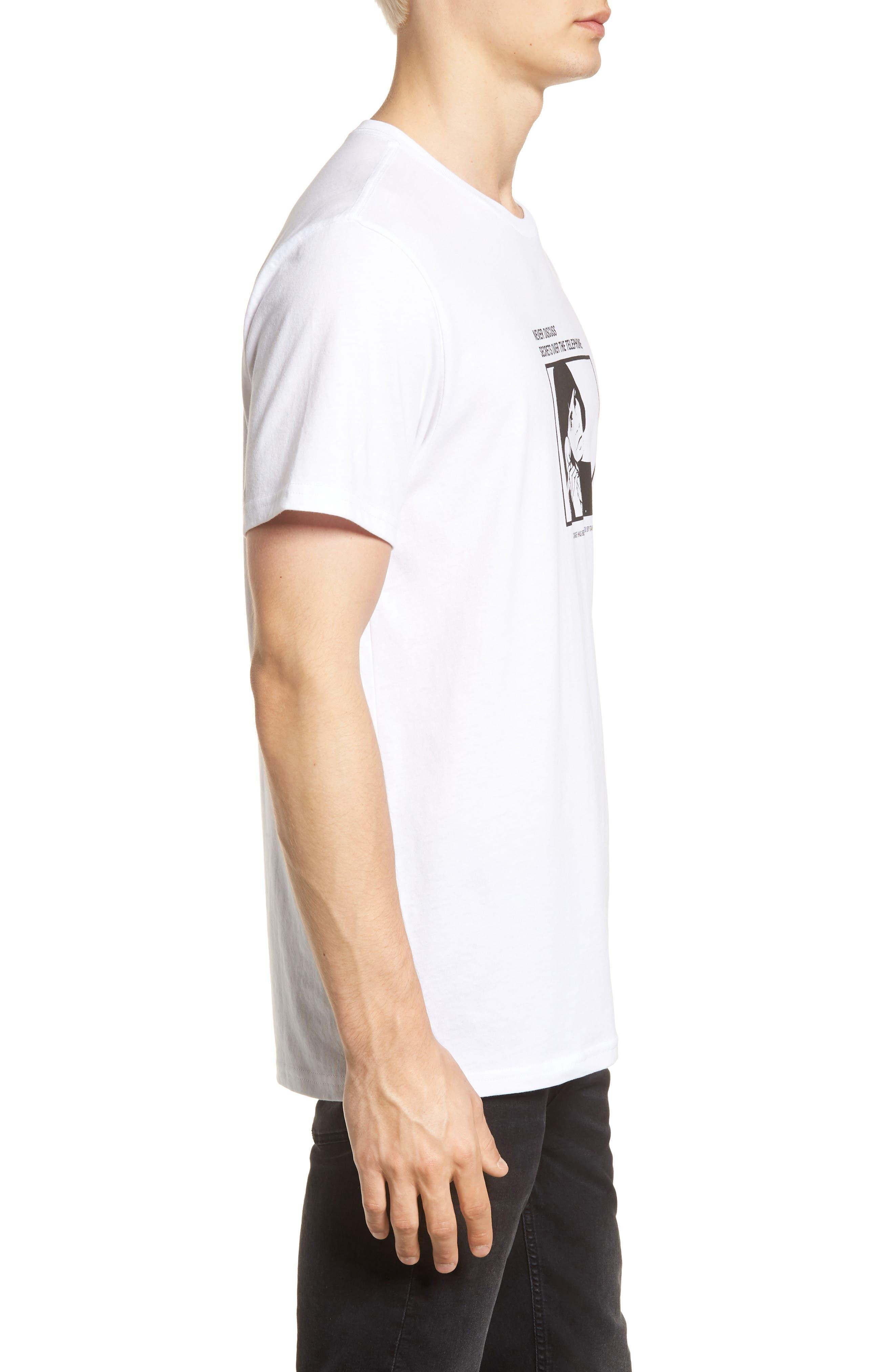 Secret Machine T-Shirt,                             Alternate thumbnail 3, color,                             WHITE