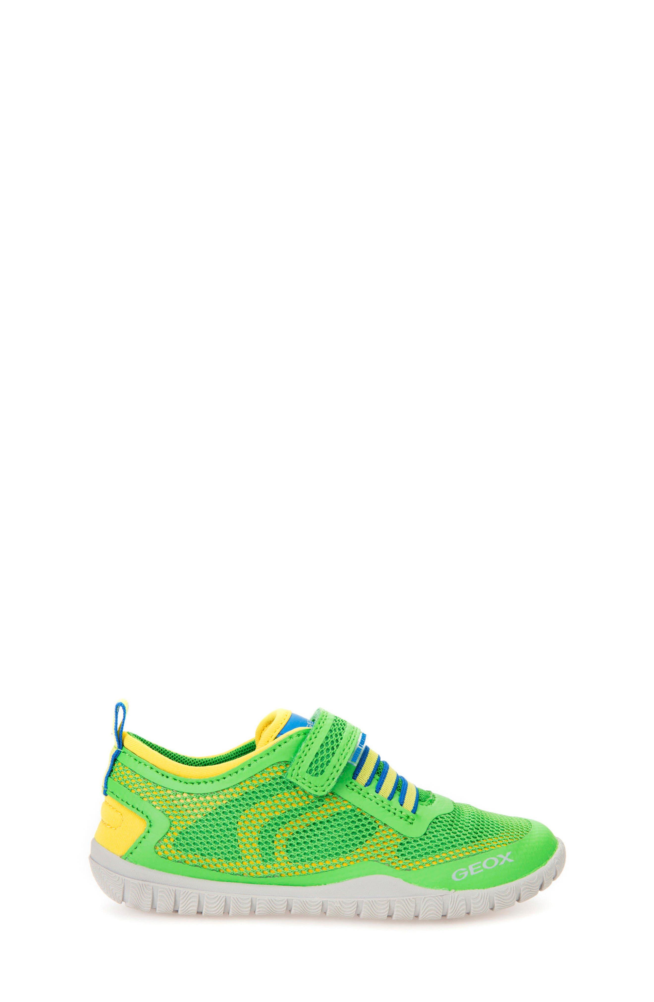 Trifon Sneaker,                             Alternate thumbnail 3, color,                             GREEN/ YELLOW
