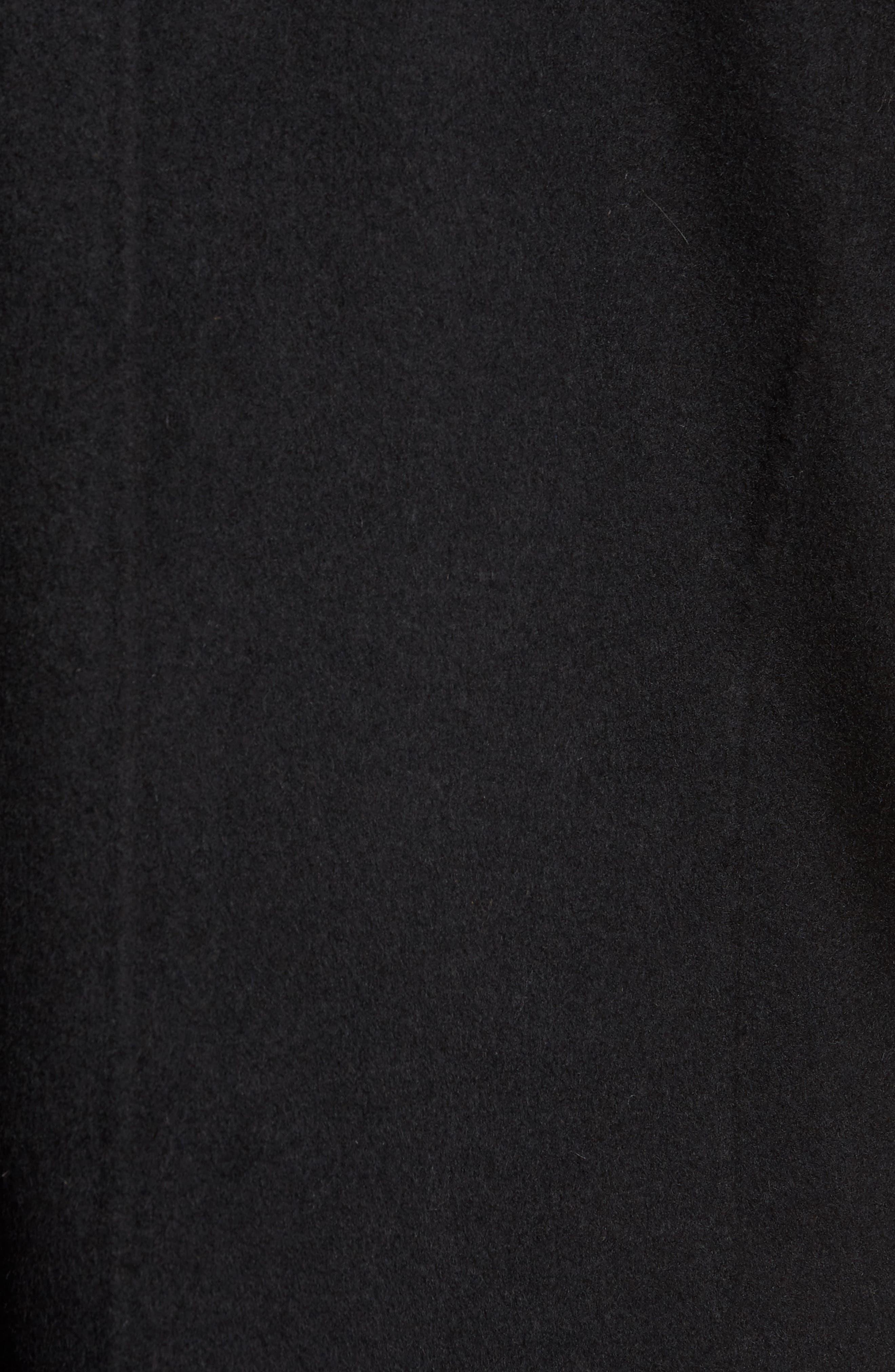 Wool Blend Topcoat,                             Alternate thumbnail 6, color,                             BLACK
