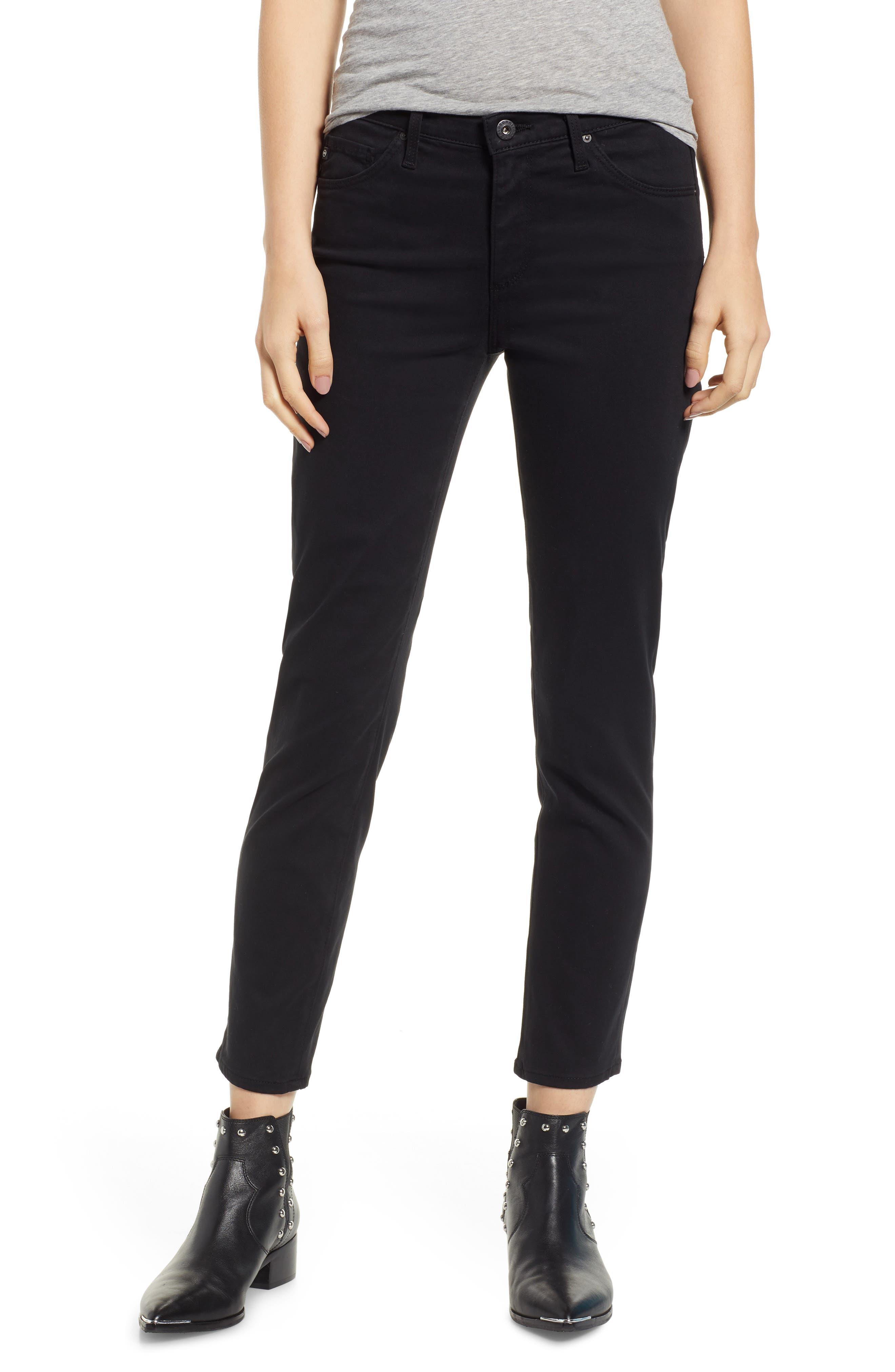 The Prima Crop Cigarette Jeans,                         Main,                         color, 010