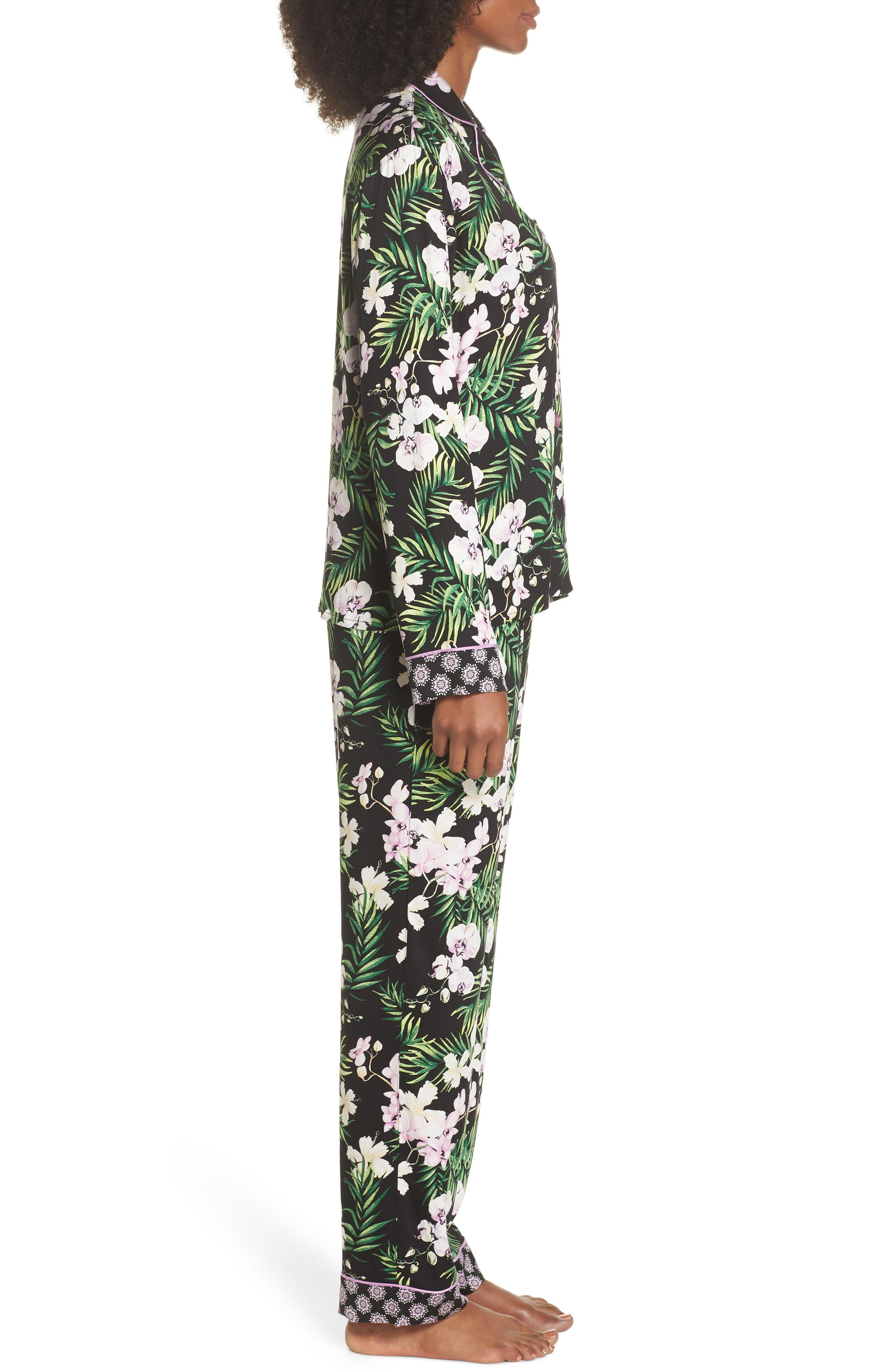 Floral Print Pajamas,                             Alternate thumbnail 3, color,                             001
