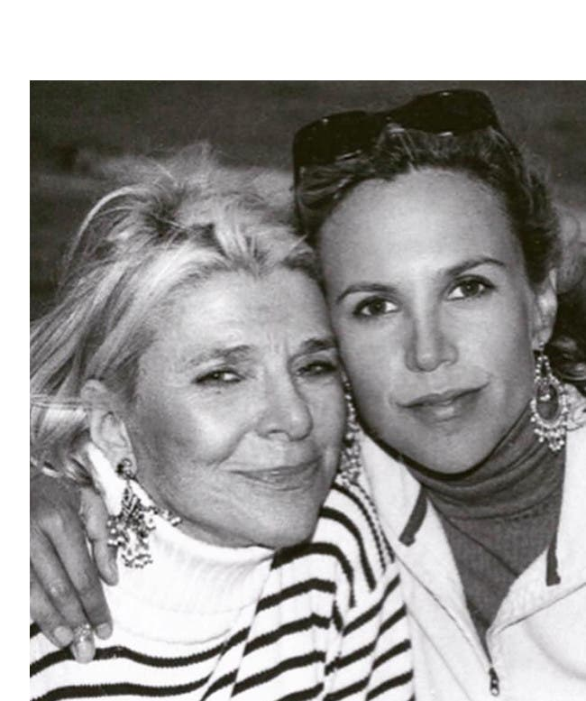 Designer Tory Burch and her mother, Reva Robinson.