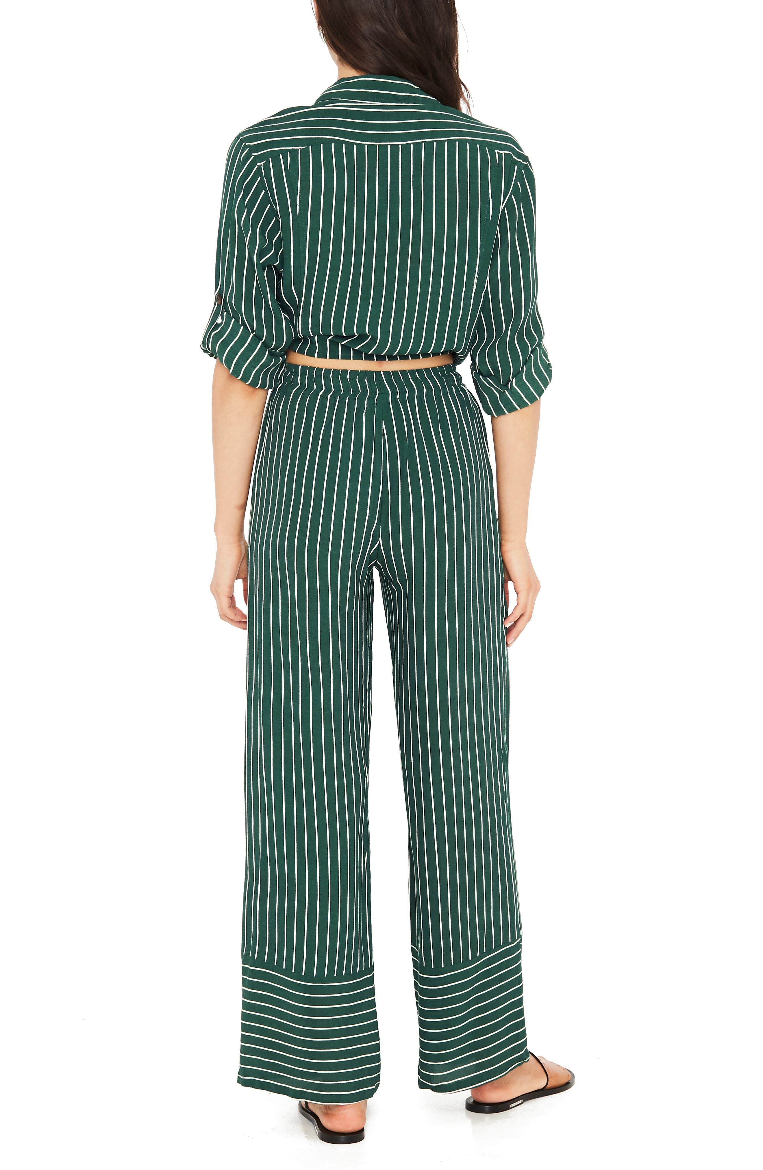 Havana High Waist Stripe Pants,                             Alternate thumbnail 3, color,                             PASEO STRIPE
