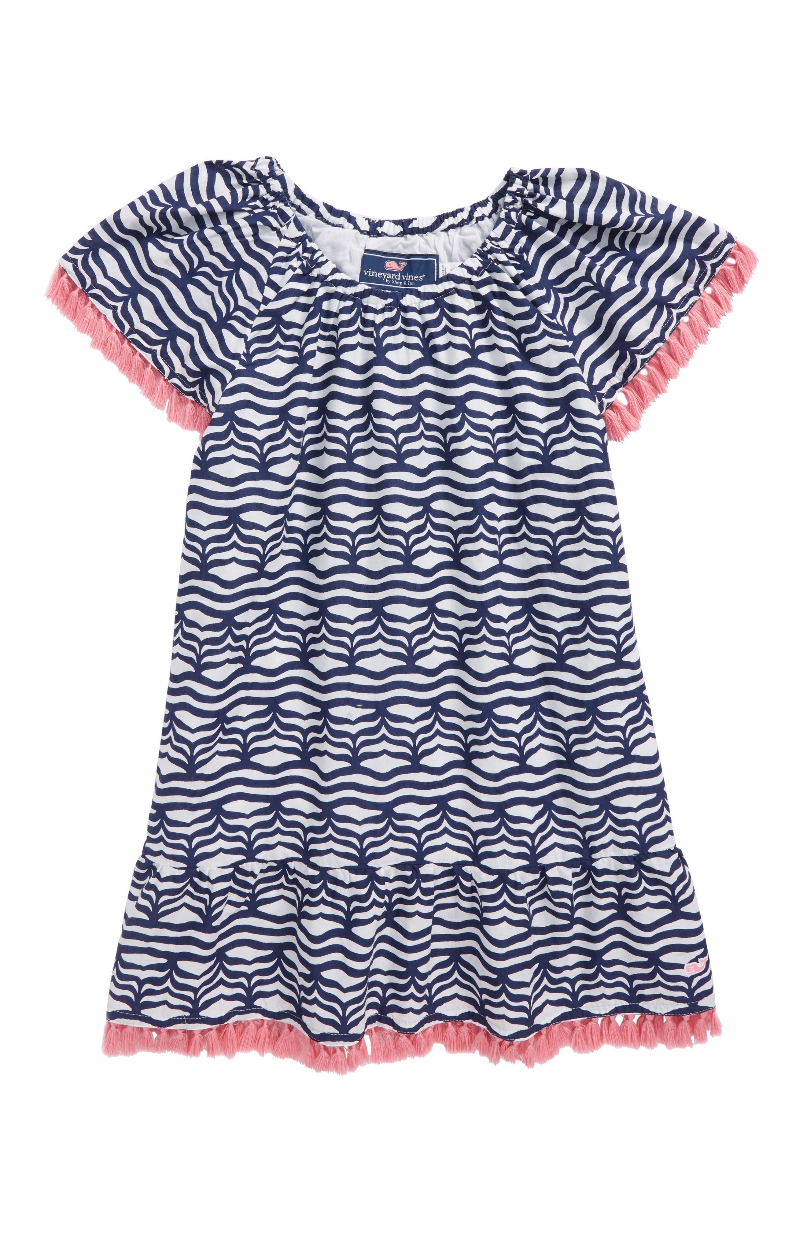 Whale Tail Wave Dress,                         Main,                         color, 400
