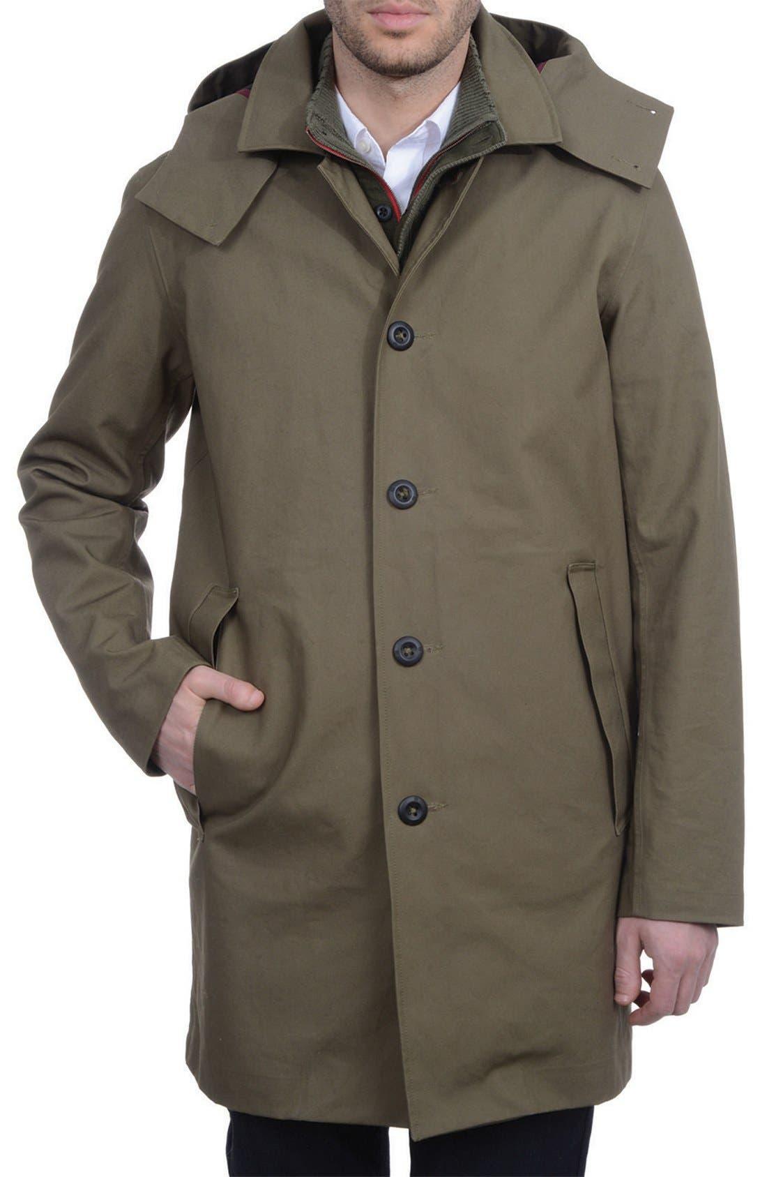VICTORINOX SWISS ARMY<SUP>®</SUP>,                             'Lenzburg' Longline Waterproof Jacket,                             Alternate thumbnail 5, color,                             961