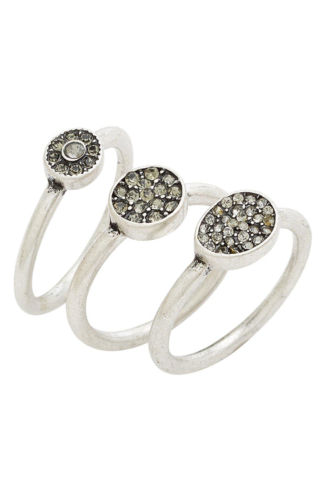 Treasure&Bond Pavé Crystal Rings,                         Main,                         color,