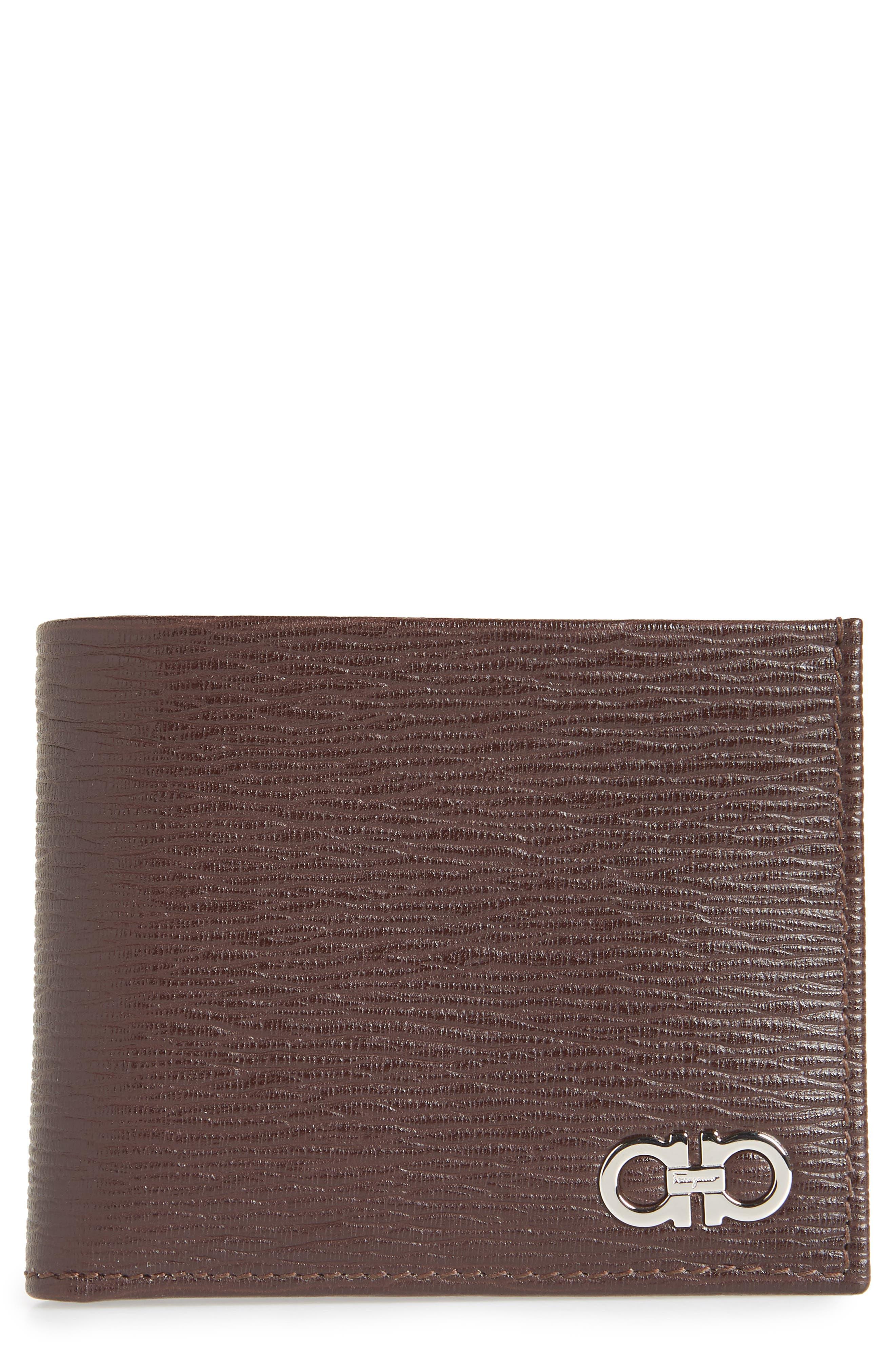 Revival Gancio Bifold Leather Wallet,                         Main,                         color, TOBACCO