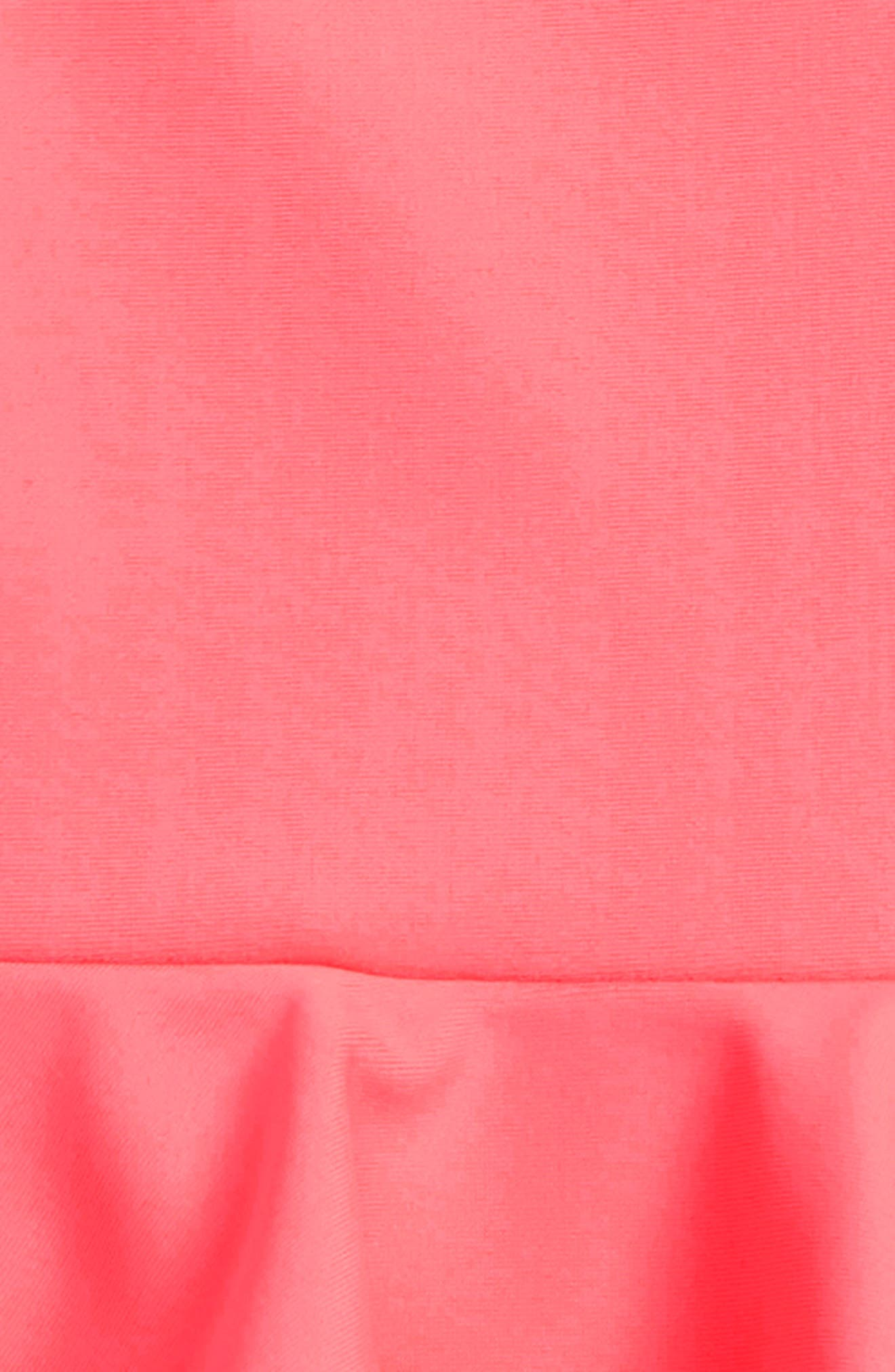 Ludine Skirted One-Piece Swimsuit,                             Alternate thumbnail 2, color,                             BRIGHT CORAL