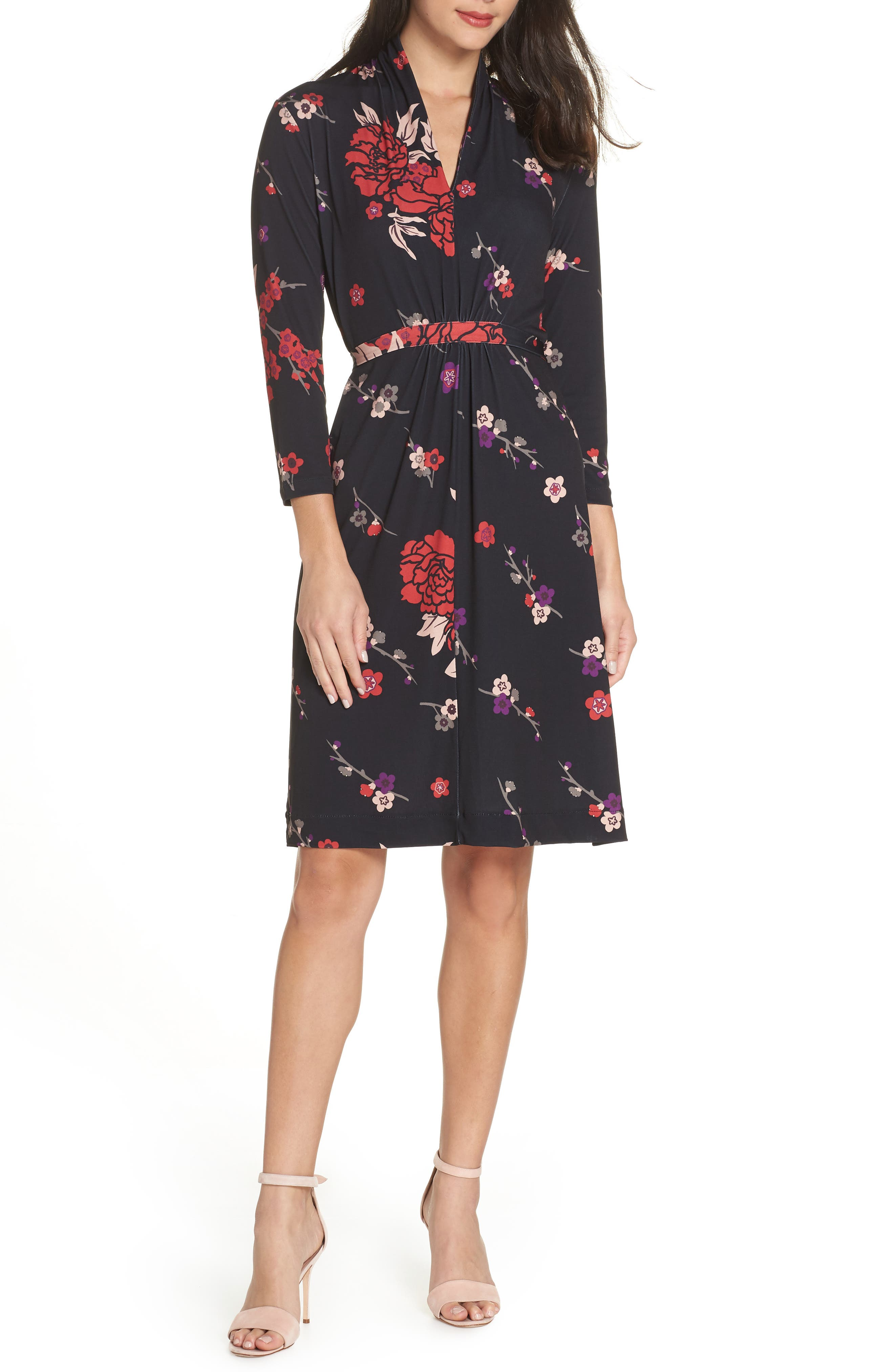 French Connection Floral Faux Wrap Dress