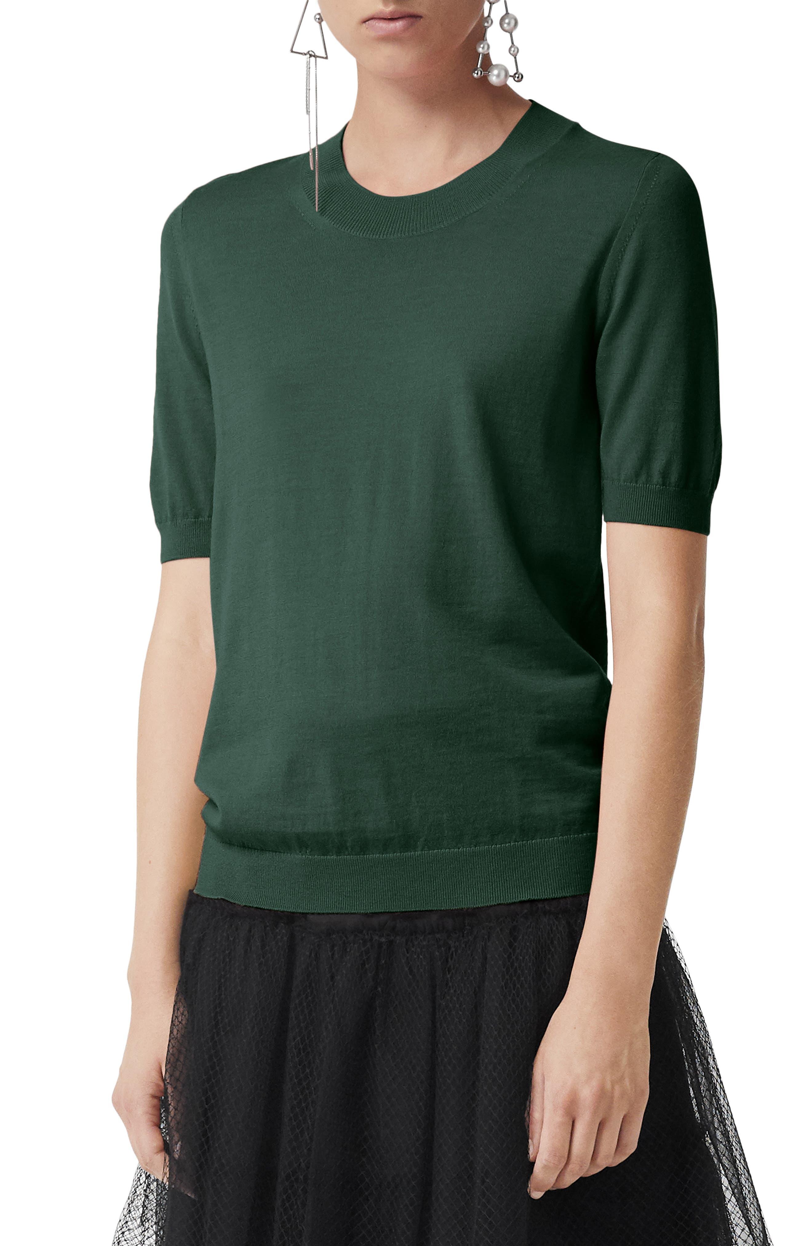 Burberry Adderstone Merino Wool Pullover, Green