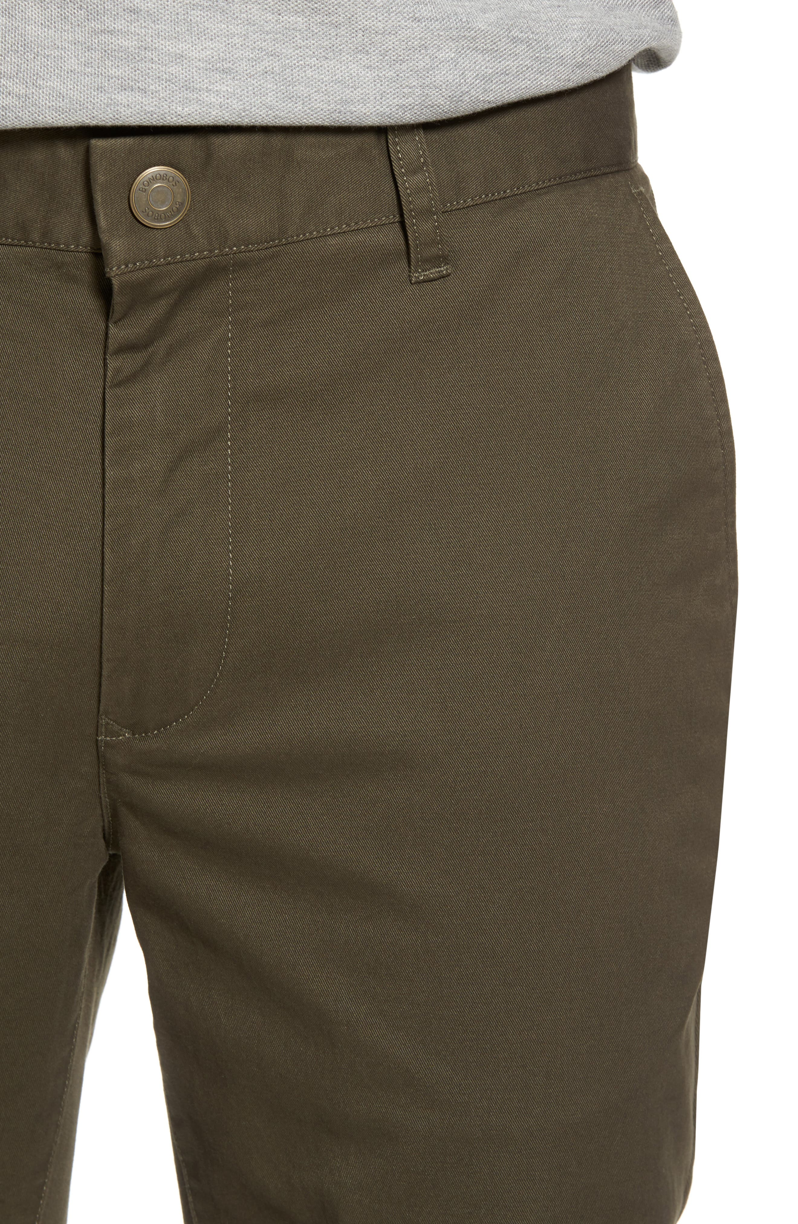 Tailored Fit Washed Stretch Cotton Chinos,                             Alternate thumbnail 136, color,