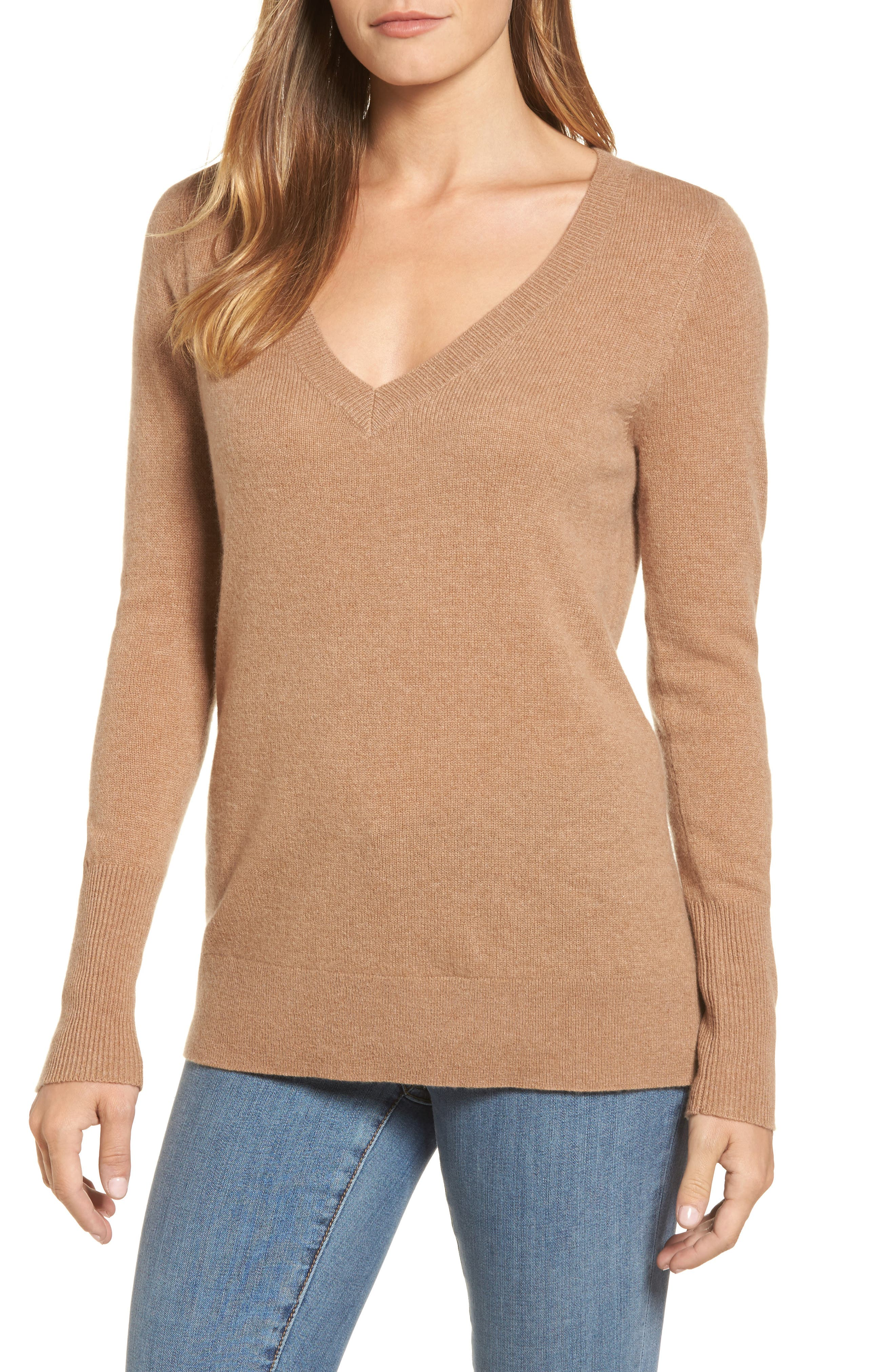 V-Neck Cashmere Sweater,                             Main thumbnail 5, color,