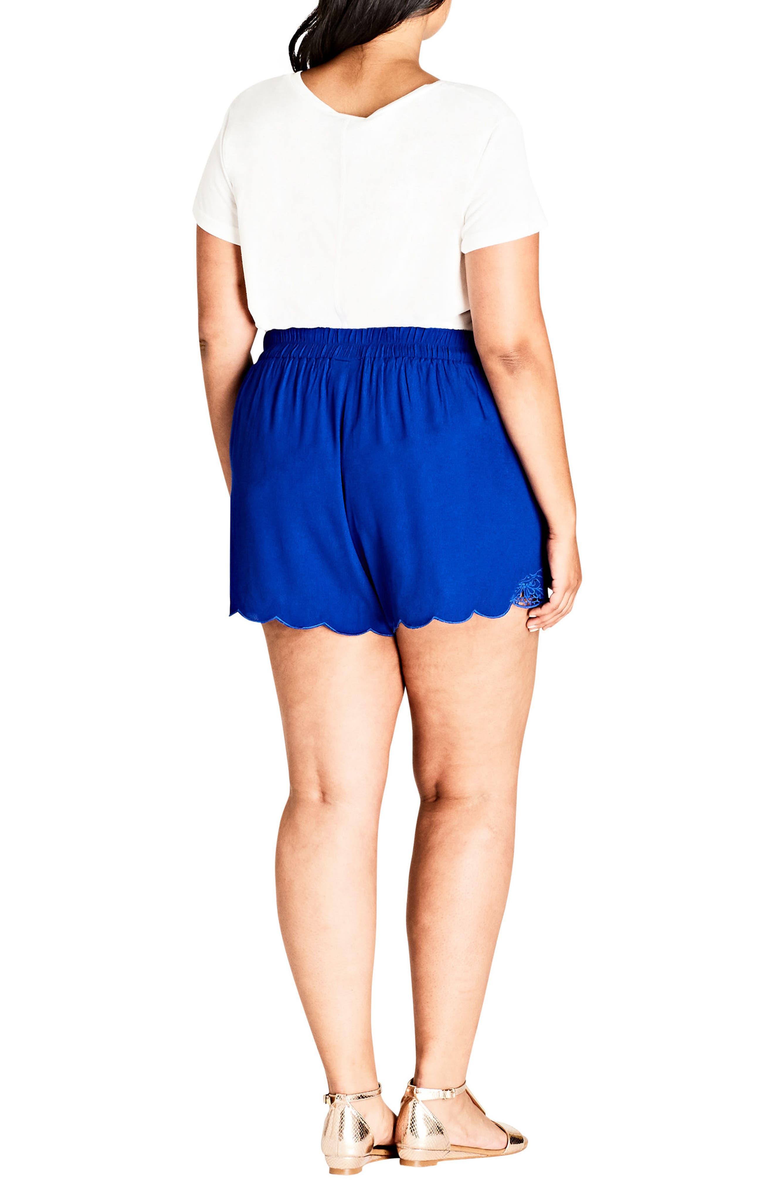Scalloped Lace Shorts,                             Alternate thumbnail 2, color,                             408