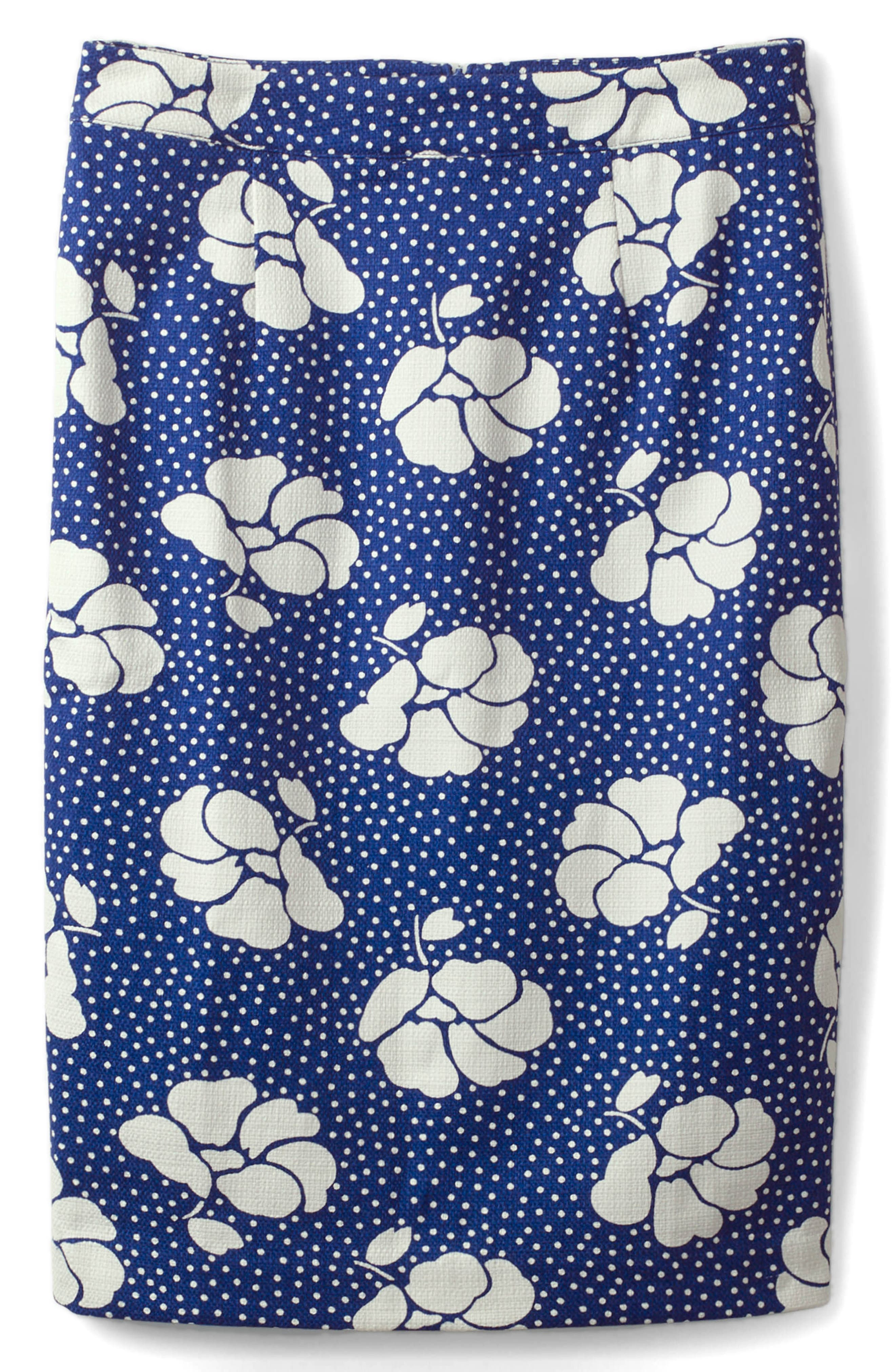 BODEN,                             Martha Floral Pencil Skirt,                             Main thumbnail 1, color,                             304