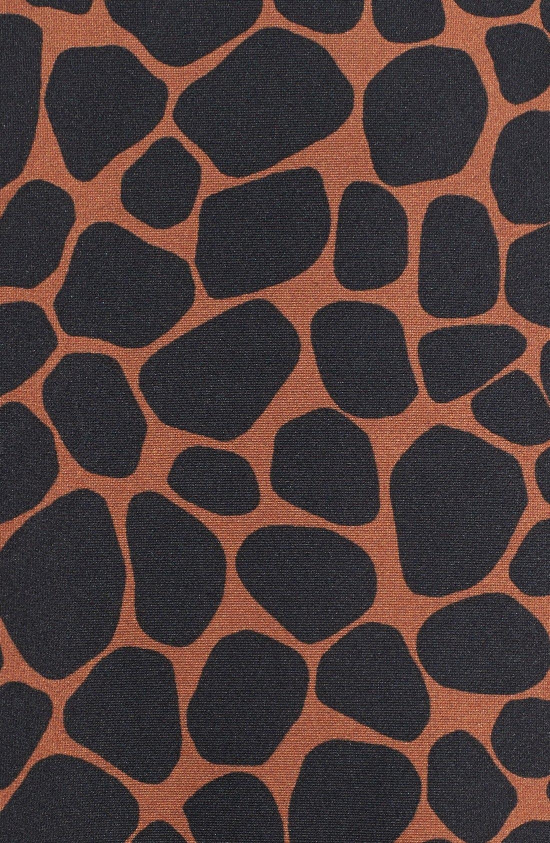 Animal Print Scuba Knit Dress,                             Alternate thumbnail 3, color,                             211
