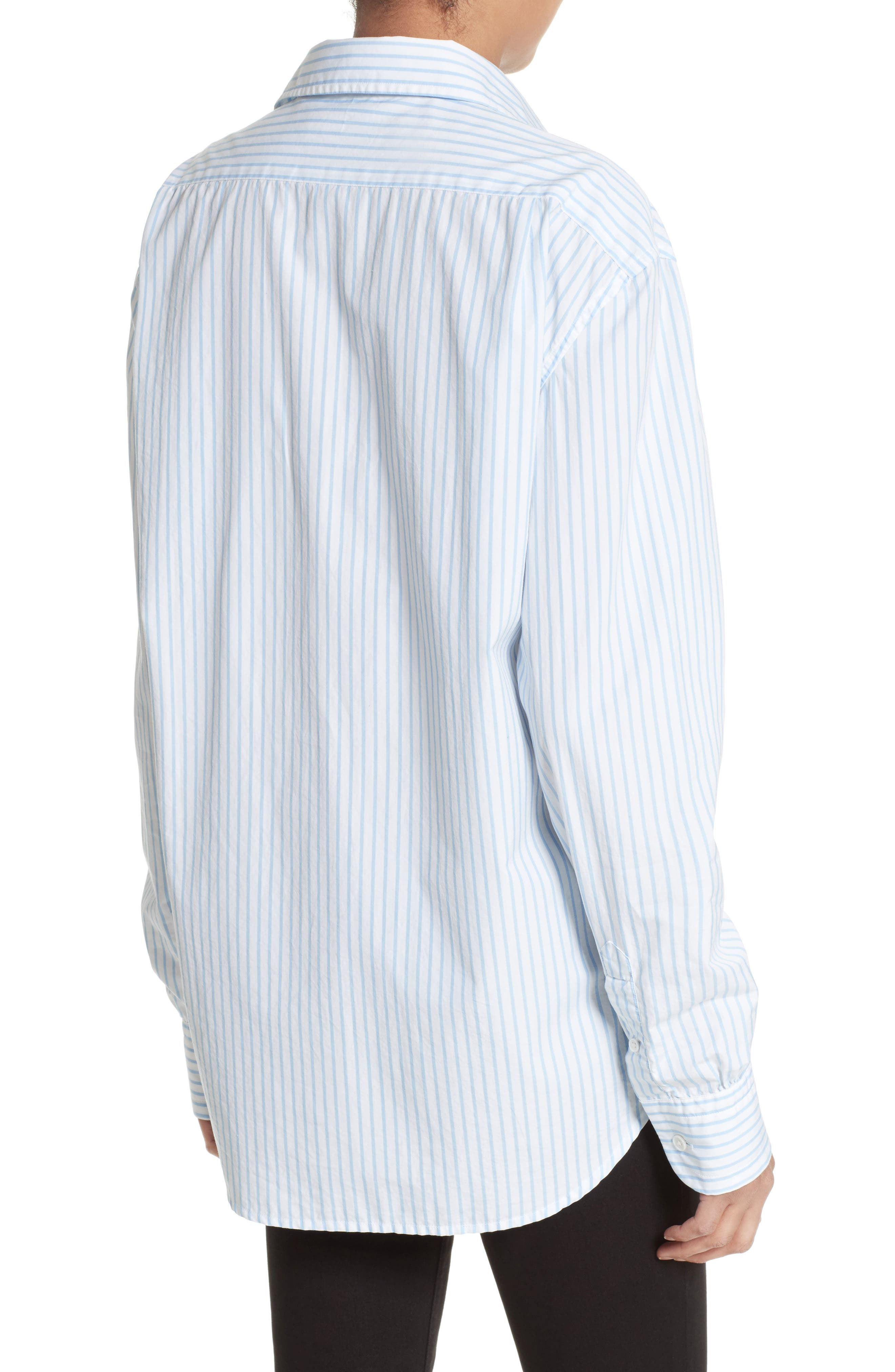 Stripe Poplin Shirt,                             Alternate thumbnail 2, color,                             161